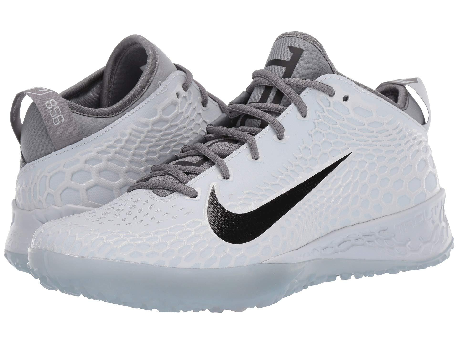 huge discount c3d47 55356 Nike. Gray Force Zoom Trout 5 Turf (pure Platinum black wolf Grey cool Grey)  Men s Cleated Shoes