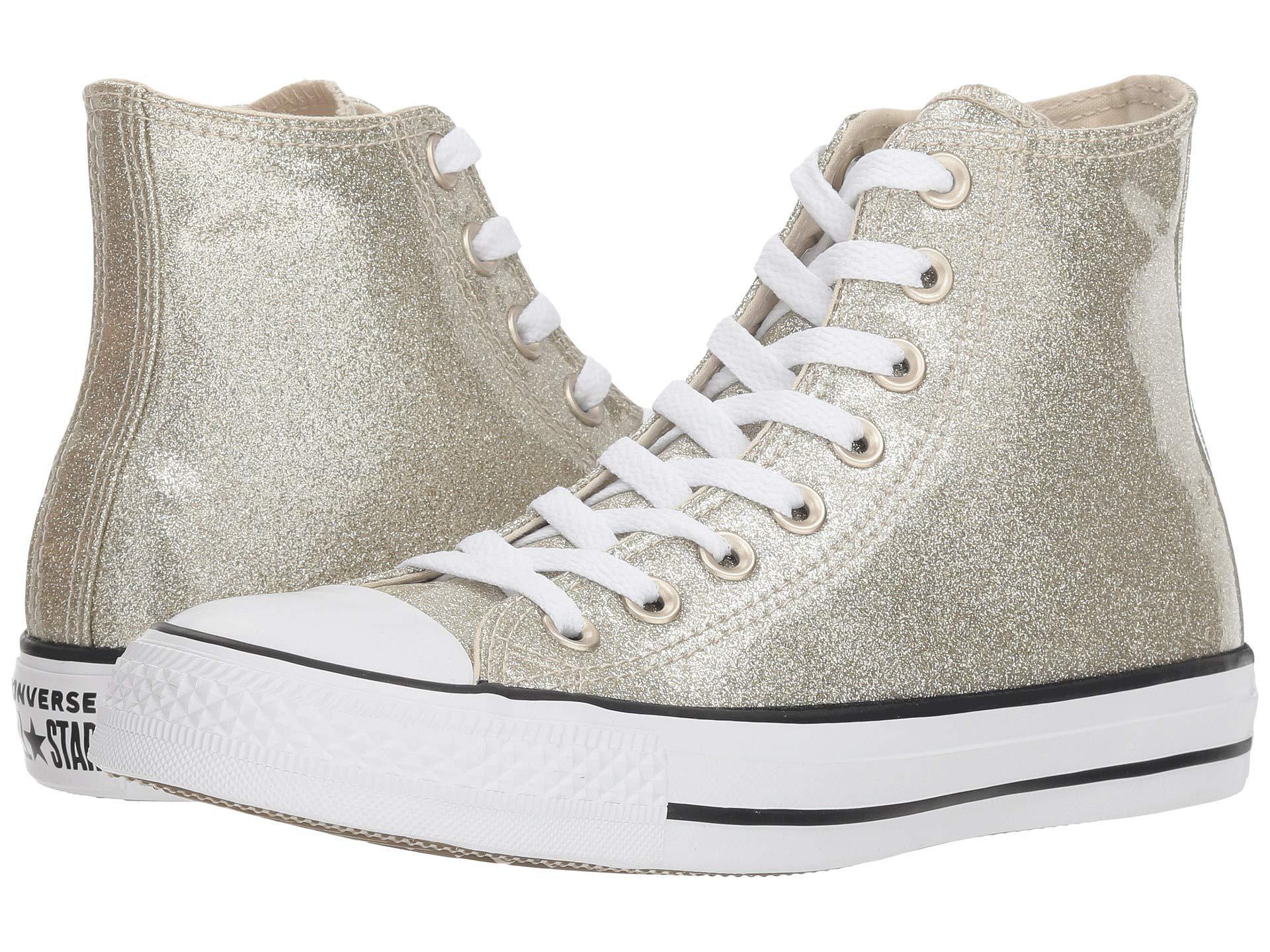 080b27e45616bc Converse. Metallic Chuck Taylor All Star - Wonderworld Hi (light Gold light  Gold white) Women s Classic Shoes