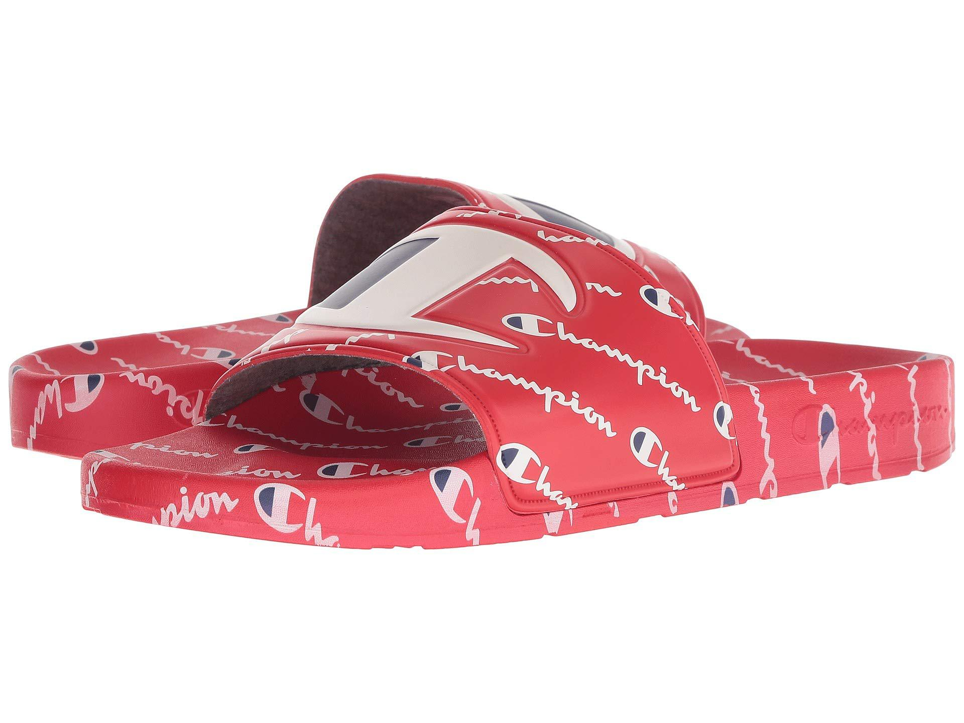 f4ea53ffca3 Lyst - Champion Ipo Repeat (red red Repeat) Men s Slide Shoes in Red ...