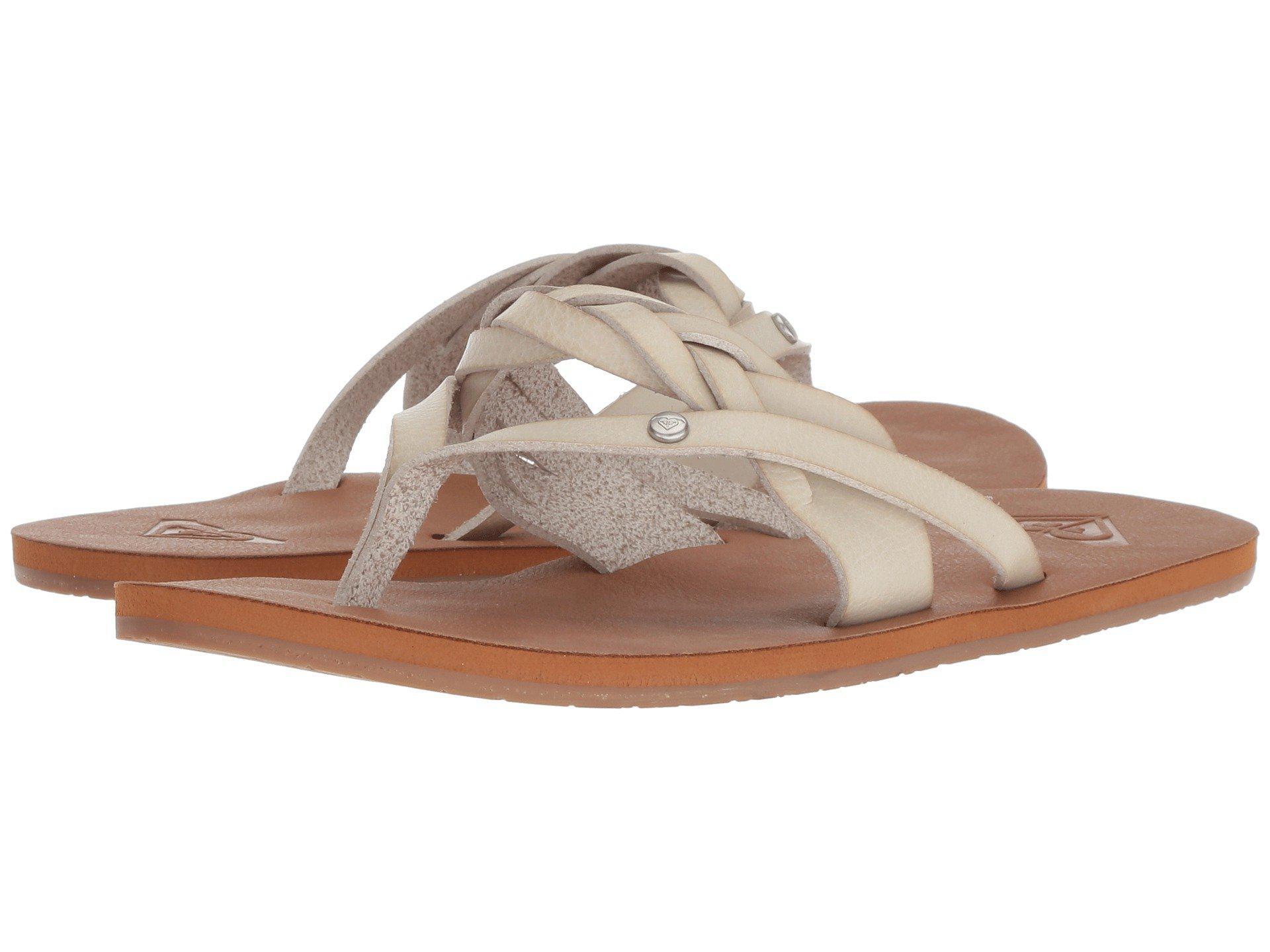 f040588bc8c36f Lyst - Roxy Evelyn (white) Women s Sandals in White