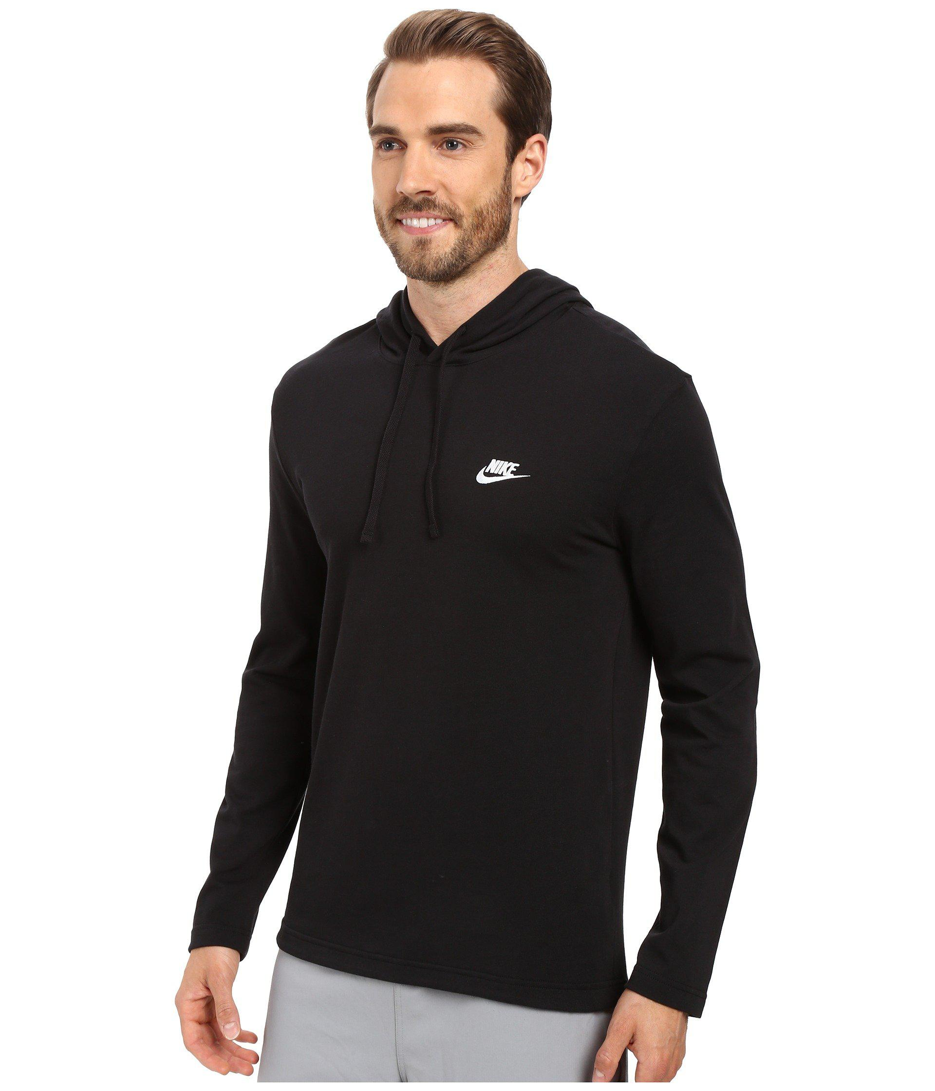 d649b400269 Lyst - Nike Club Jersey Pullover Hoodie (black white) Men s Clothing for Men