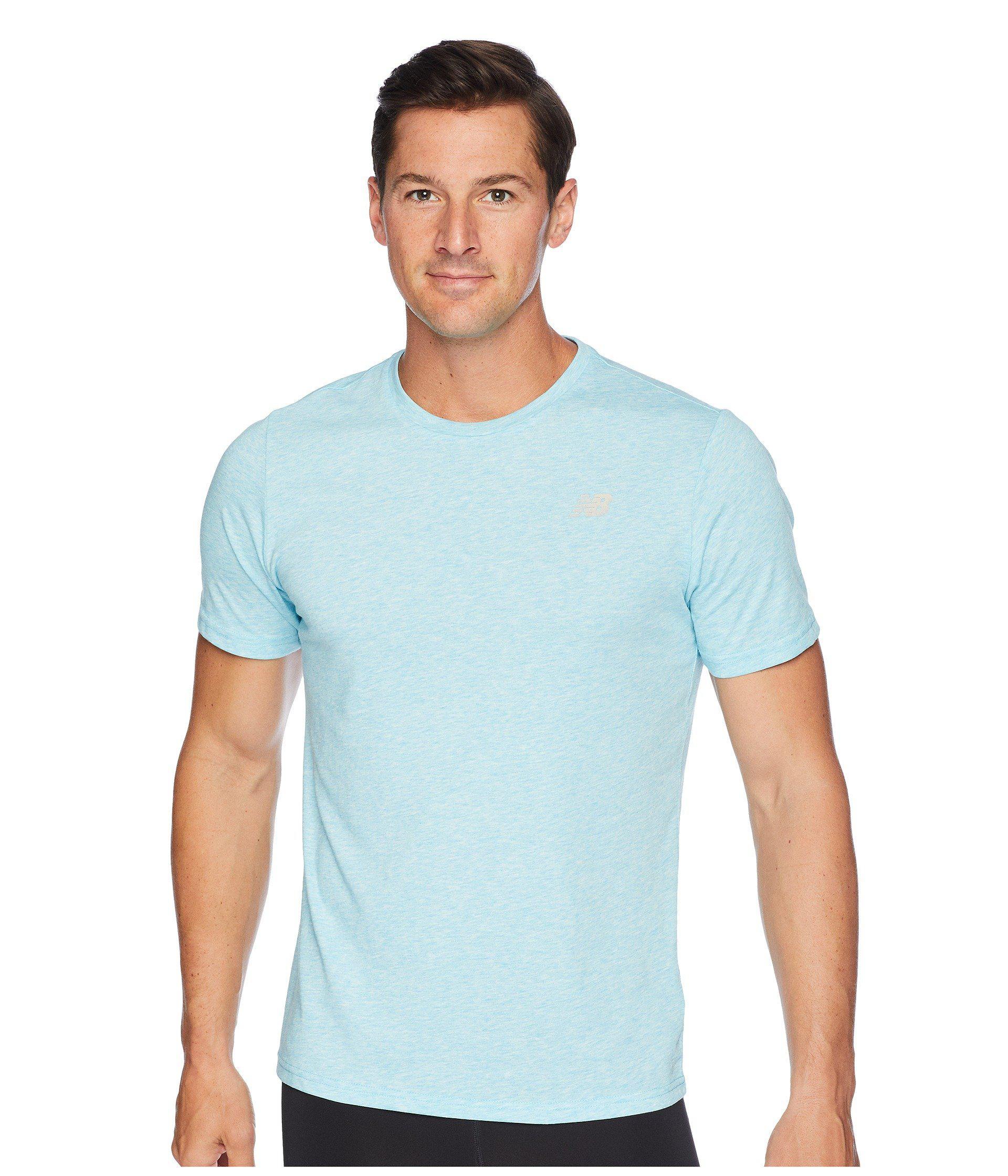 06f76dc7d New Balance Heather Tech Short Sleeve (black Heather) Men's T Shirt ...