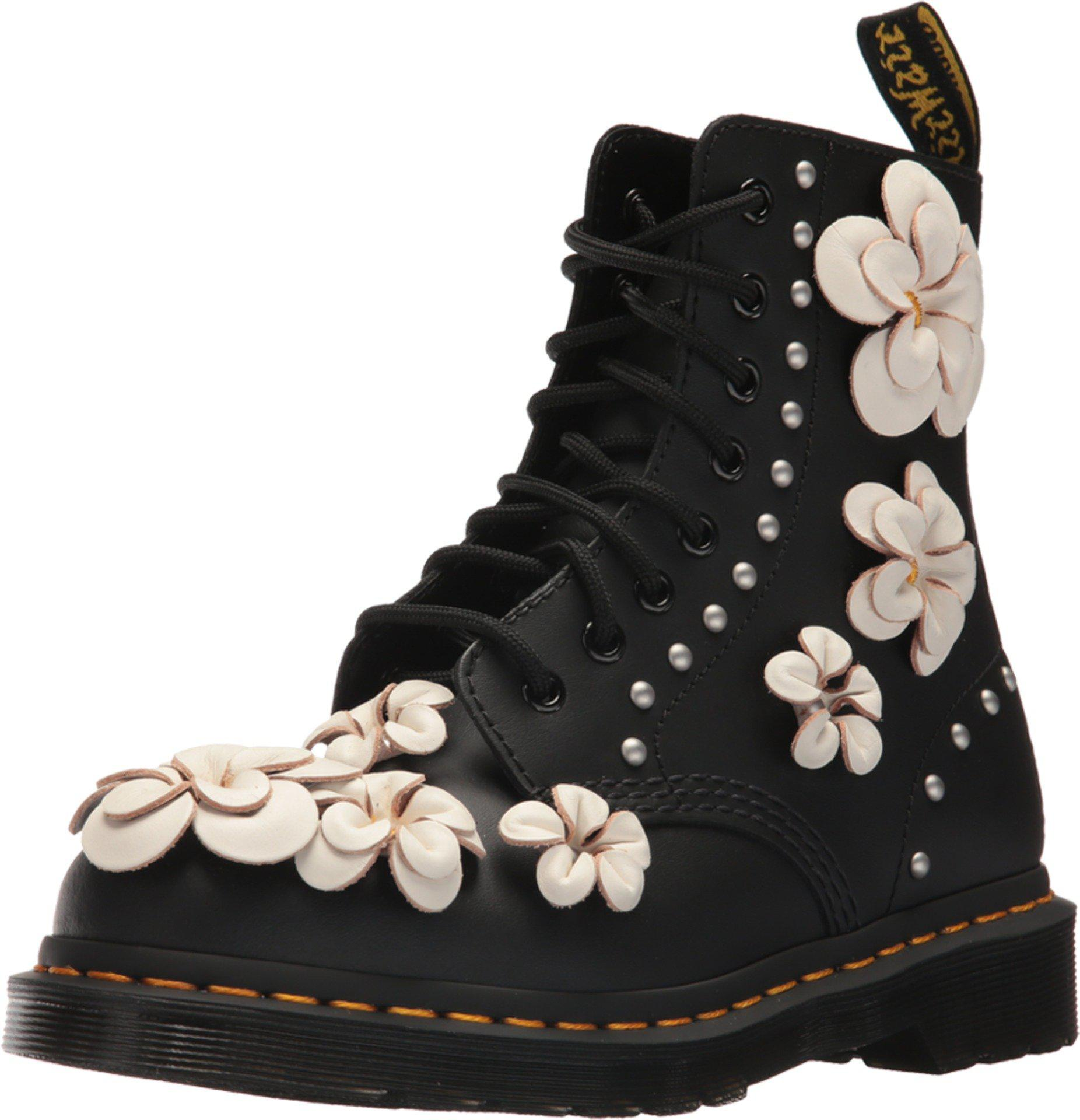 e0543f47778 Lyst - Dr. Martens 1460 Pascal Flower in Black