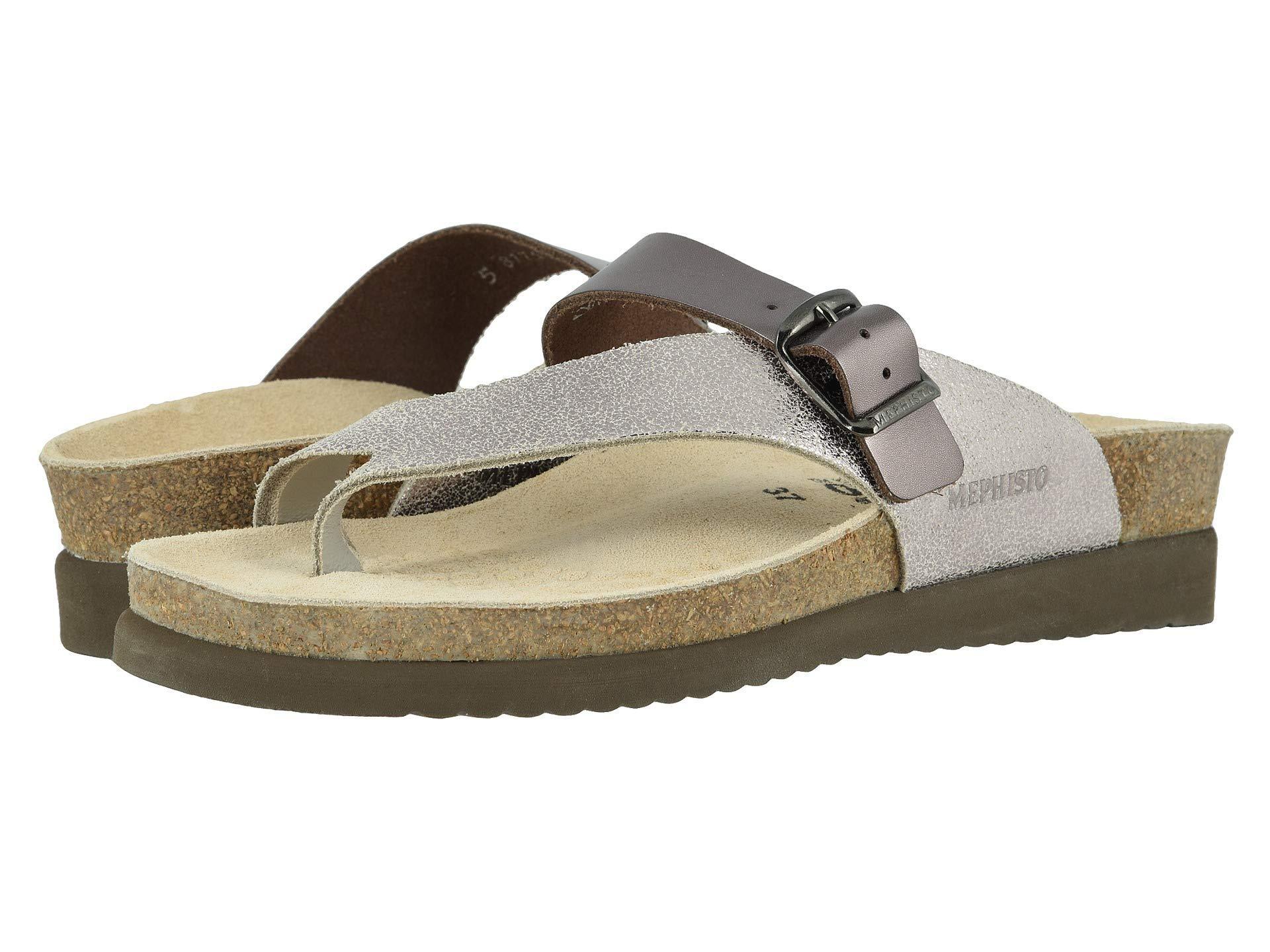 3557924706 Lyst - Mephisto Helen Mix (black Waxy/cuba) Women's Sandals