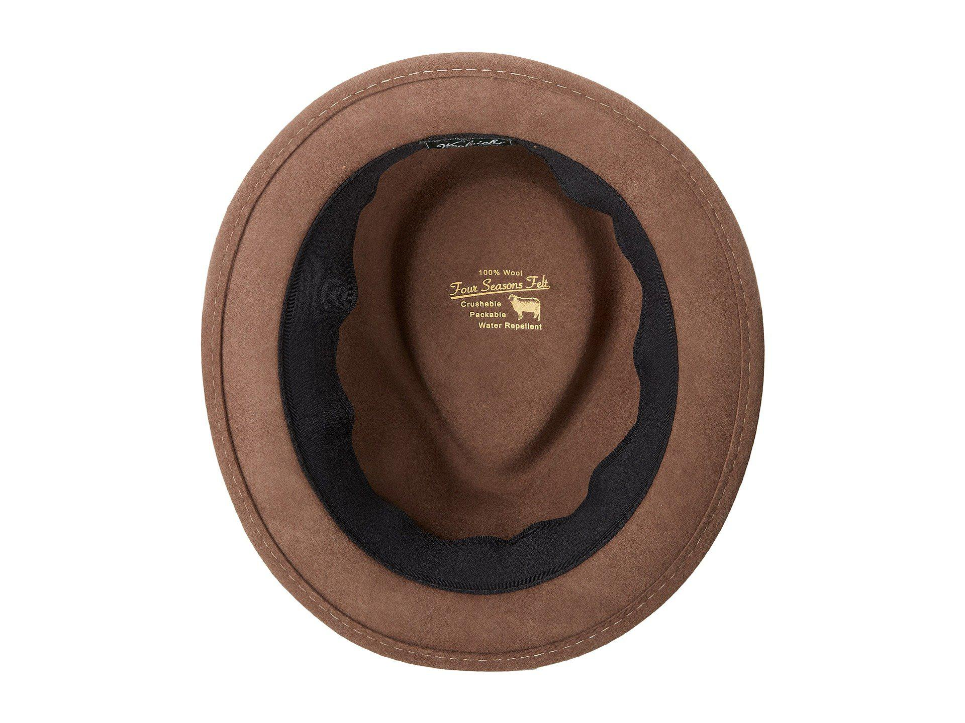 68b46312 Woolrich Crushable Wool Felt Roll Up Hat (black) Caps in Natural for ...