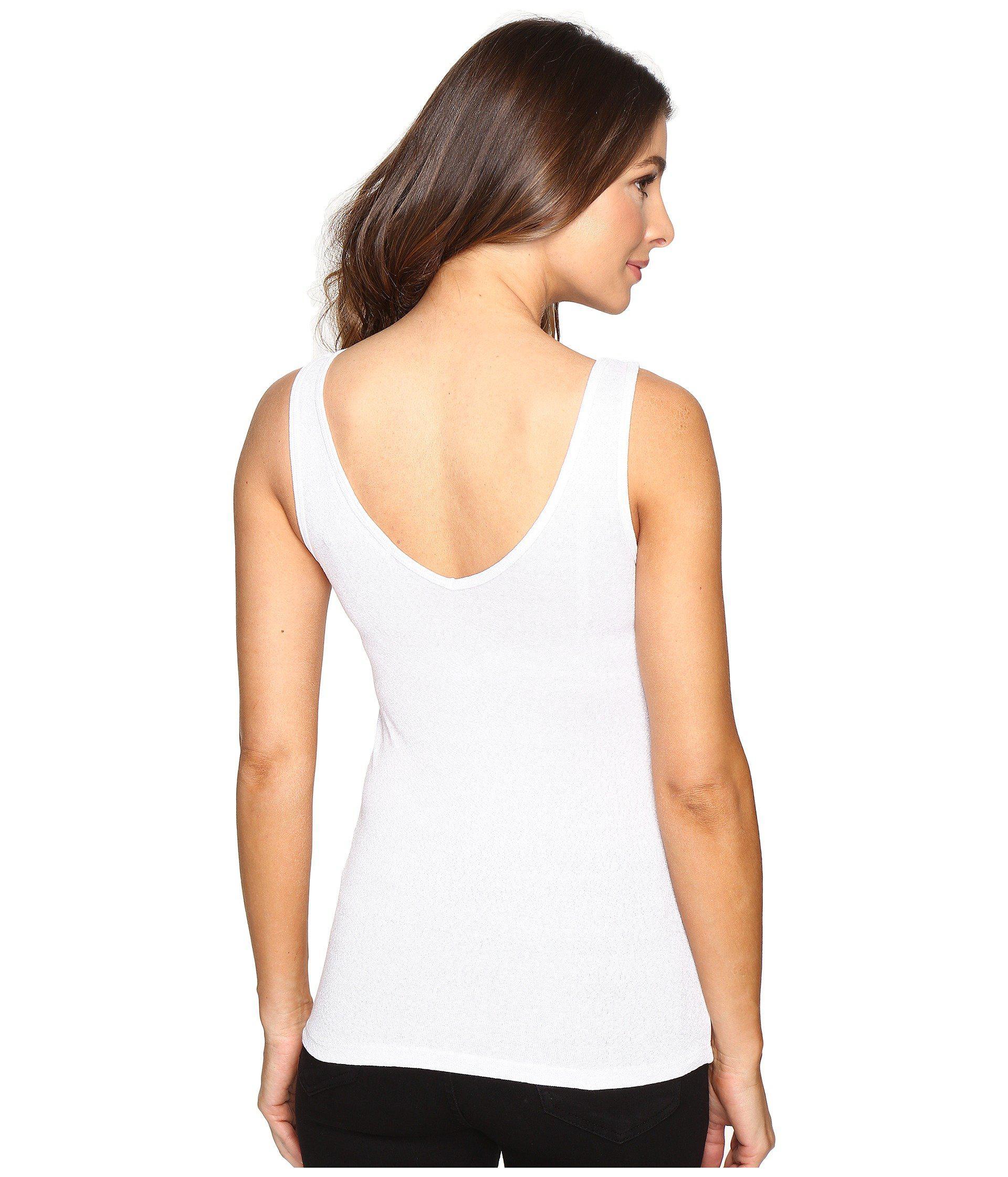 fcbe21a861ead ... White Shine Double Front V-neck Tank Top (black) Women s. View  fullscreen