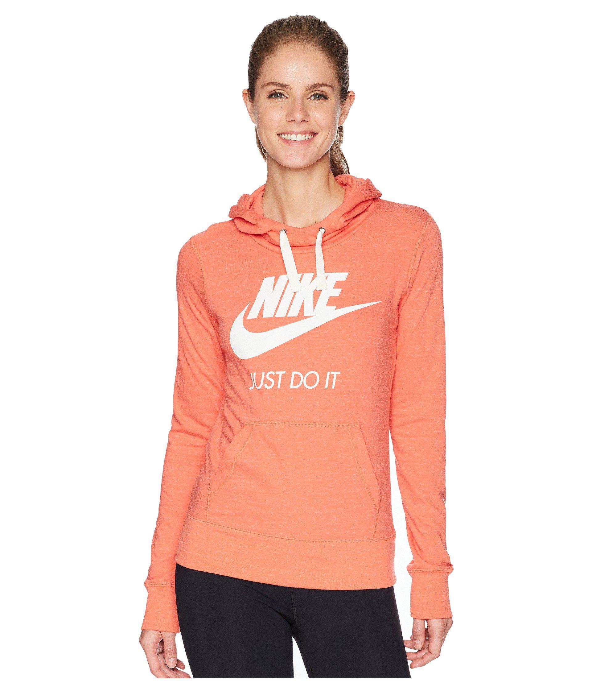 90f66cb30 Lyst - Nike Sportswear Gym Vintage Hbr Hoodie (birch Heather/sail ...