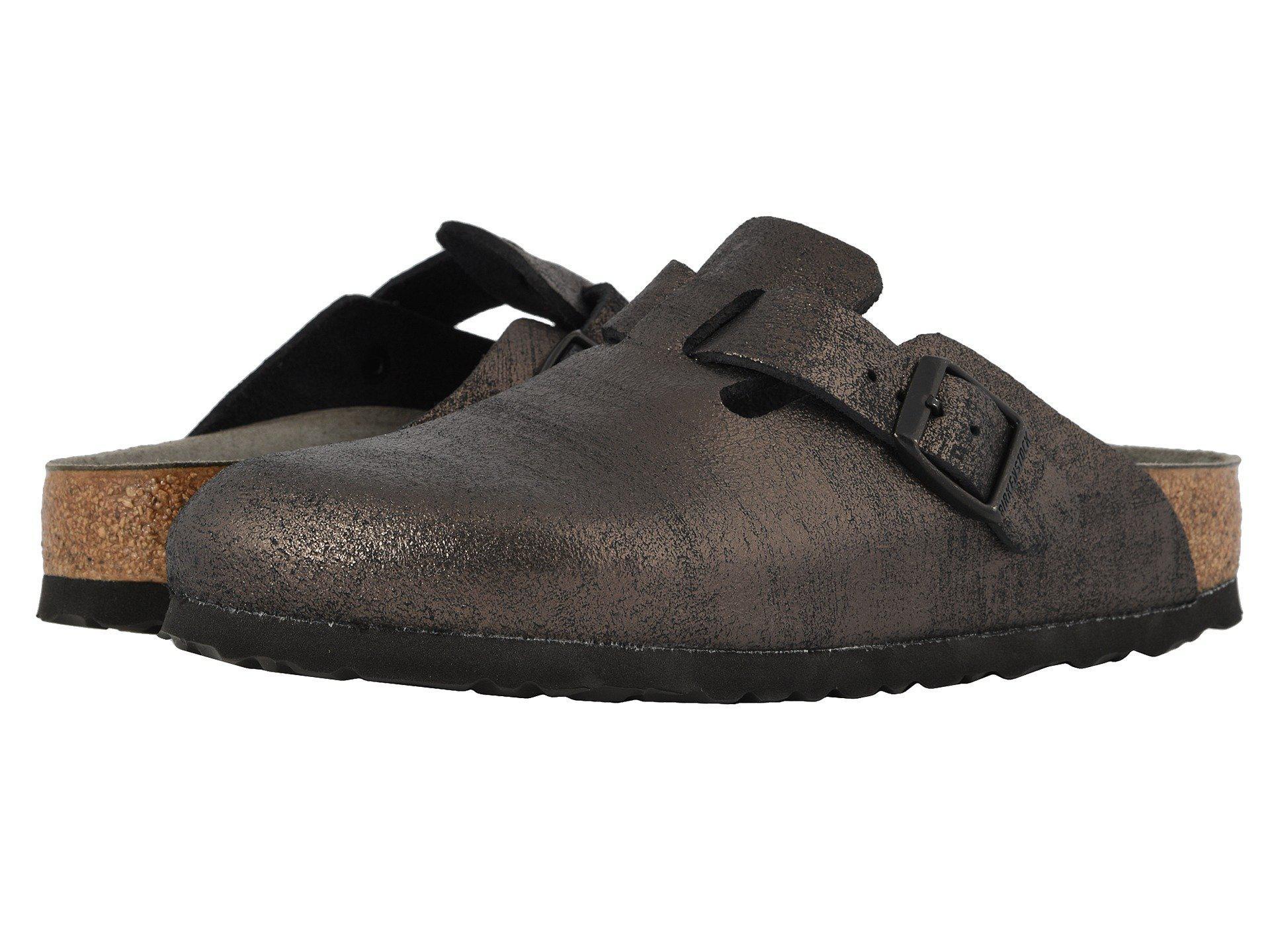 c1e74805811f Birkenstock. Black Boston (washed Metallic Antique Copper Leather) Women s  Clog Shoes