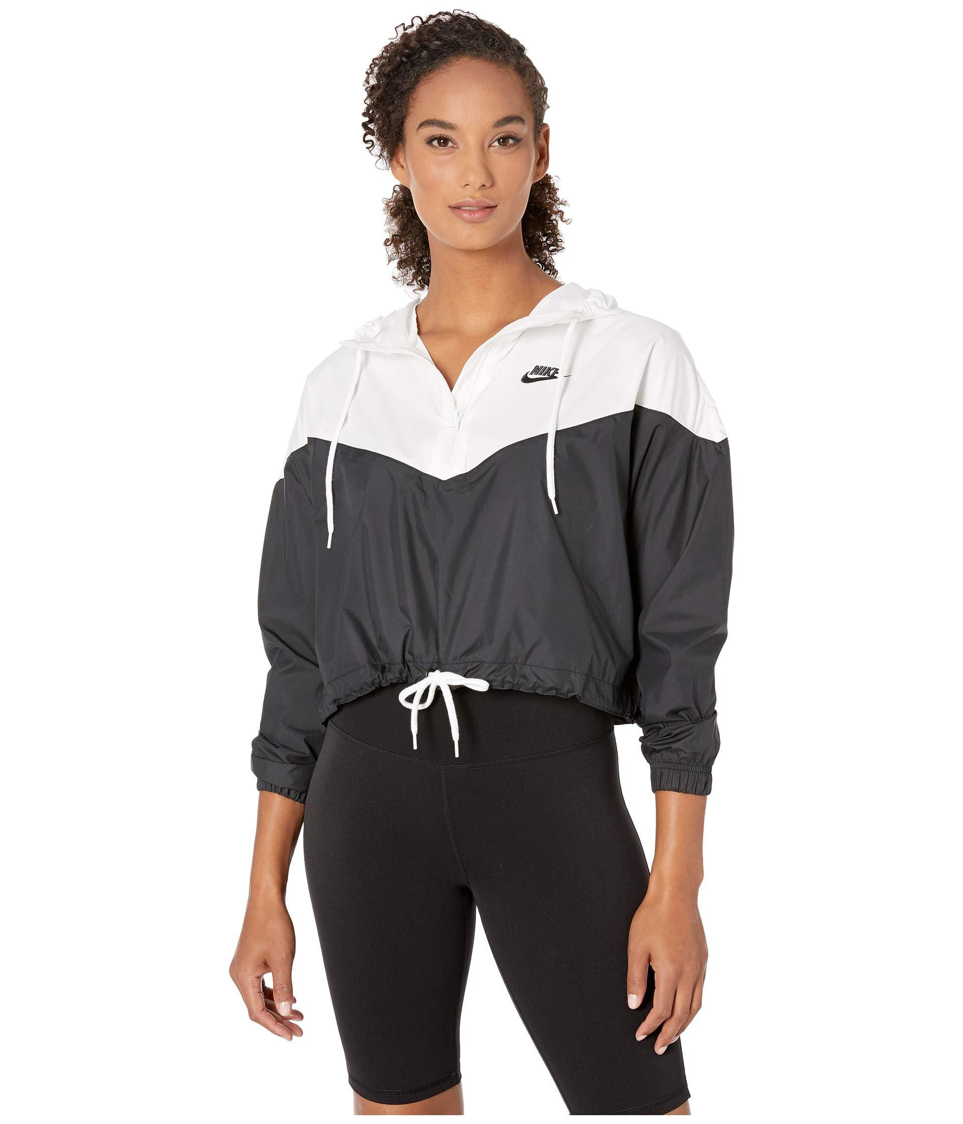 2246b90fb334 Lyst - Nike Sportswear Heritage Jacket Windbreaker (black white ...