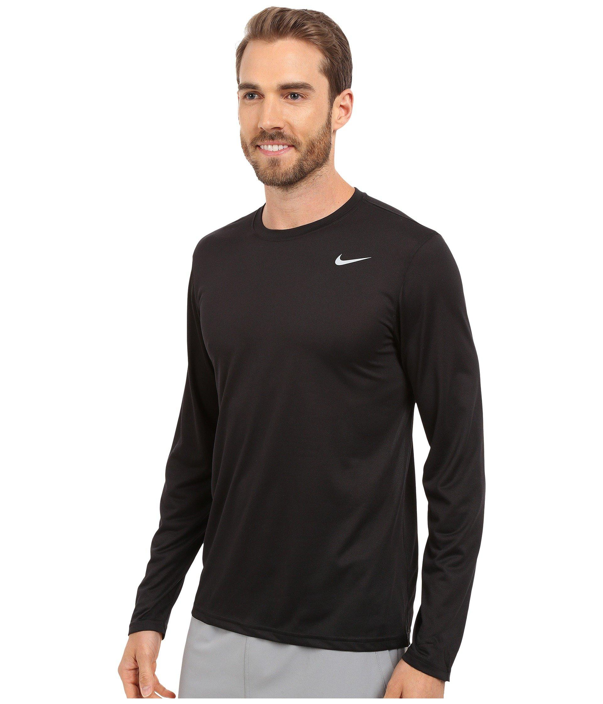 6e0488b2 Nike Legend 2.0 Long Sleeve Tee (black/black/matte Silver) Men's T Shirt in  Black for Men - Save 26% - Lyst