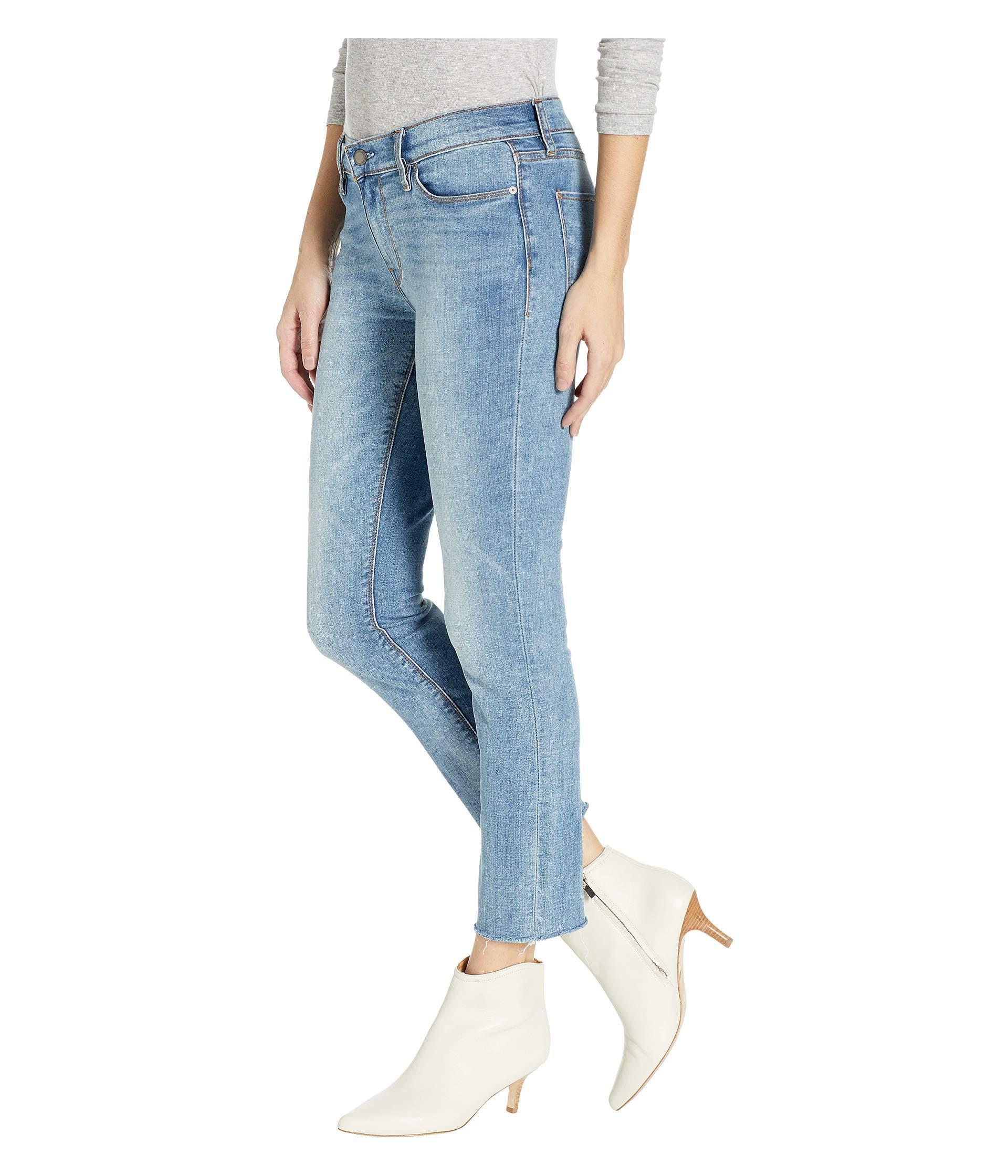 5bed1f5ddbd Lyst - Hudson Jeans Tally Mid-rise Skinny Crop In Radical (raw Hem)  (radical (raw Hem)) Women's Jeans in Blue