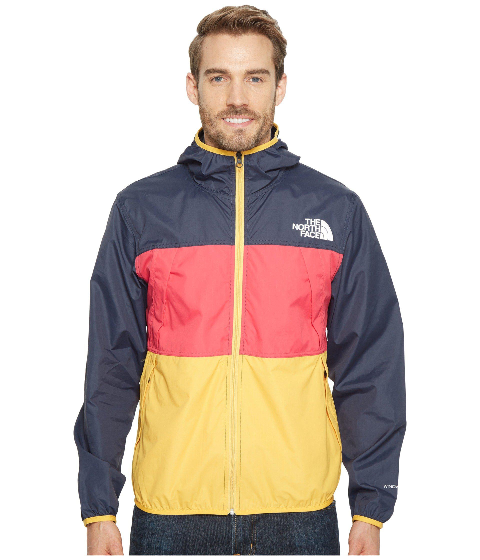 91fb31611a Lyst - The North Face Telegraph Wind Jacket (urban Navy raspberry ...
