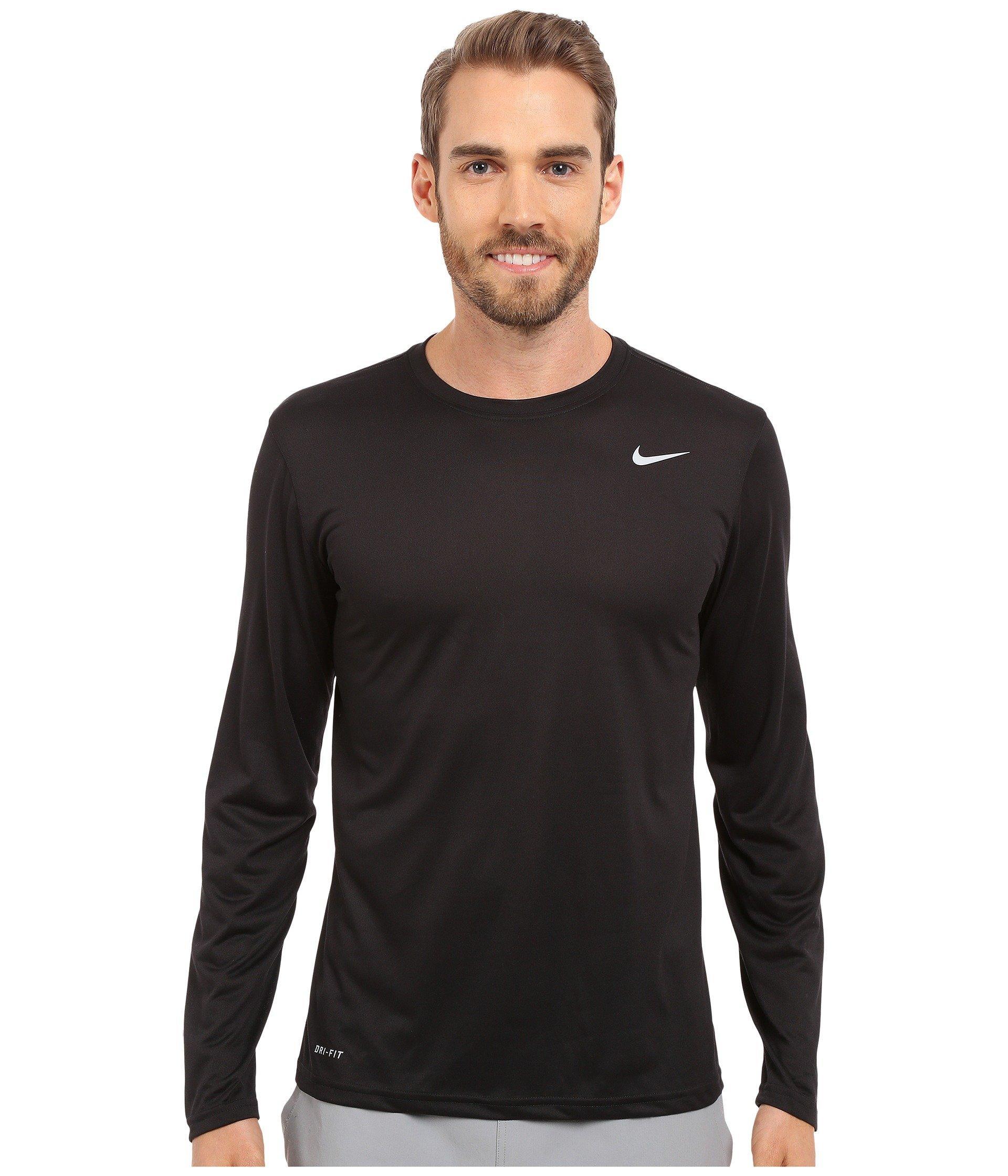 e30c403a Nike Legend 2.0 Long Sleeve Tee (black/black/matte Silver) Men's T ...
