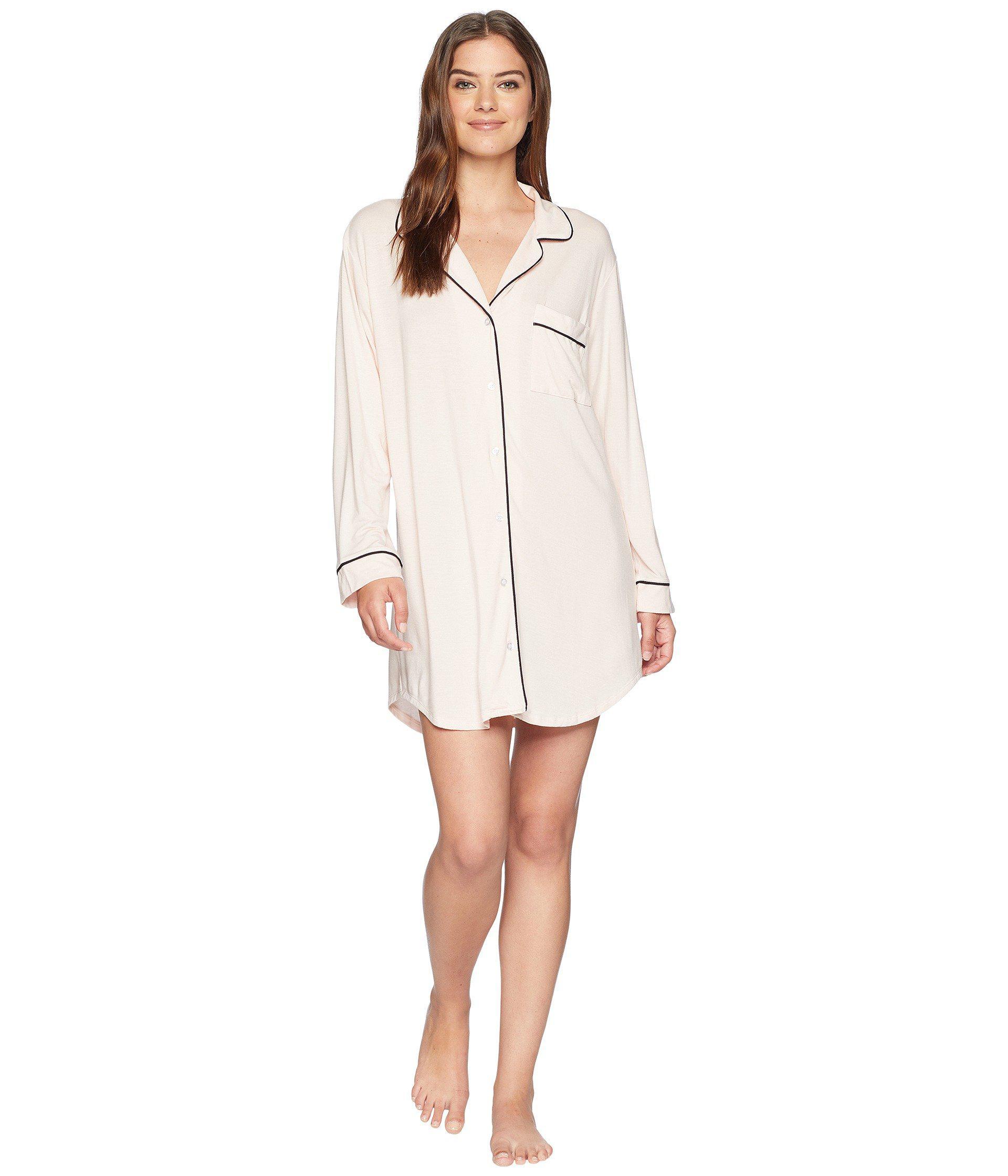 eb349b9f5 Lyst - Eberjey Gisele Nightshirt (sorbet black) Women s Pajama in White
