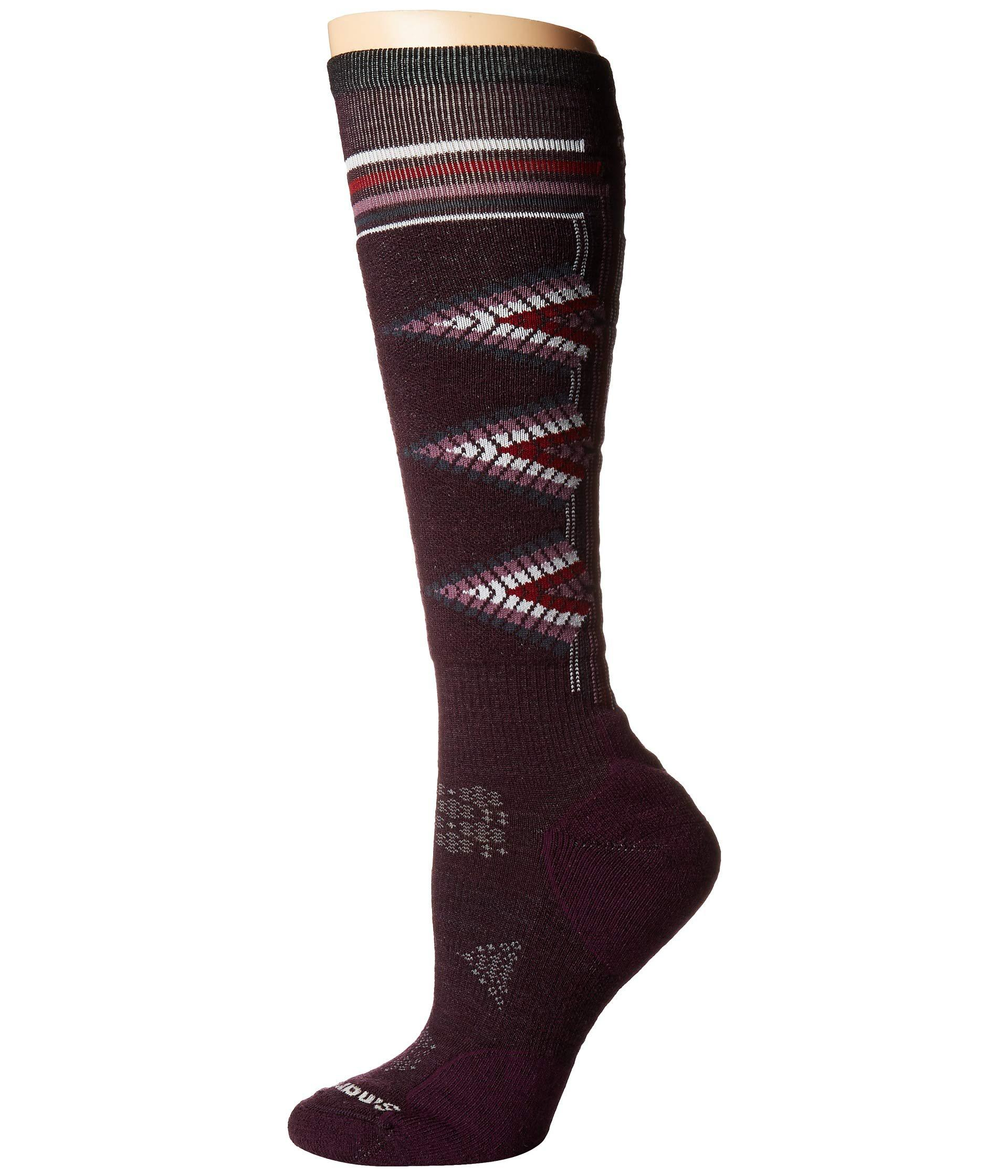 f0d3d21c49e Smartwool. Red Phd(r) Ski Light Pattern (mediterranean Green) Women s Knee  High Socks Shoes