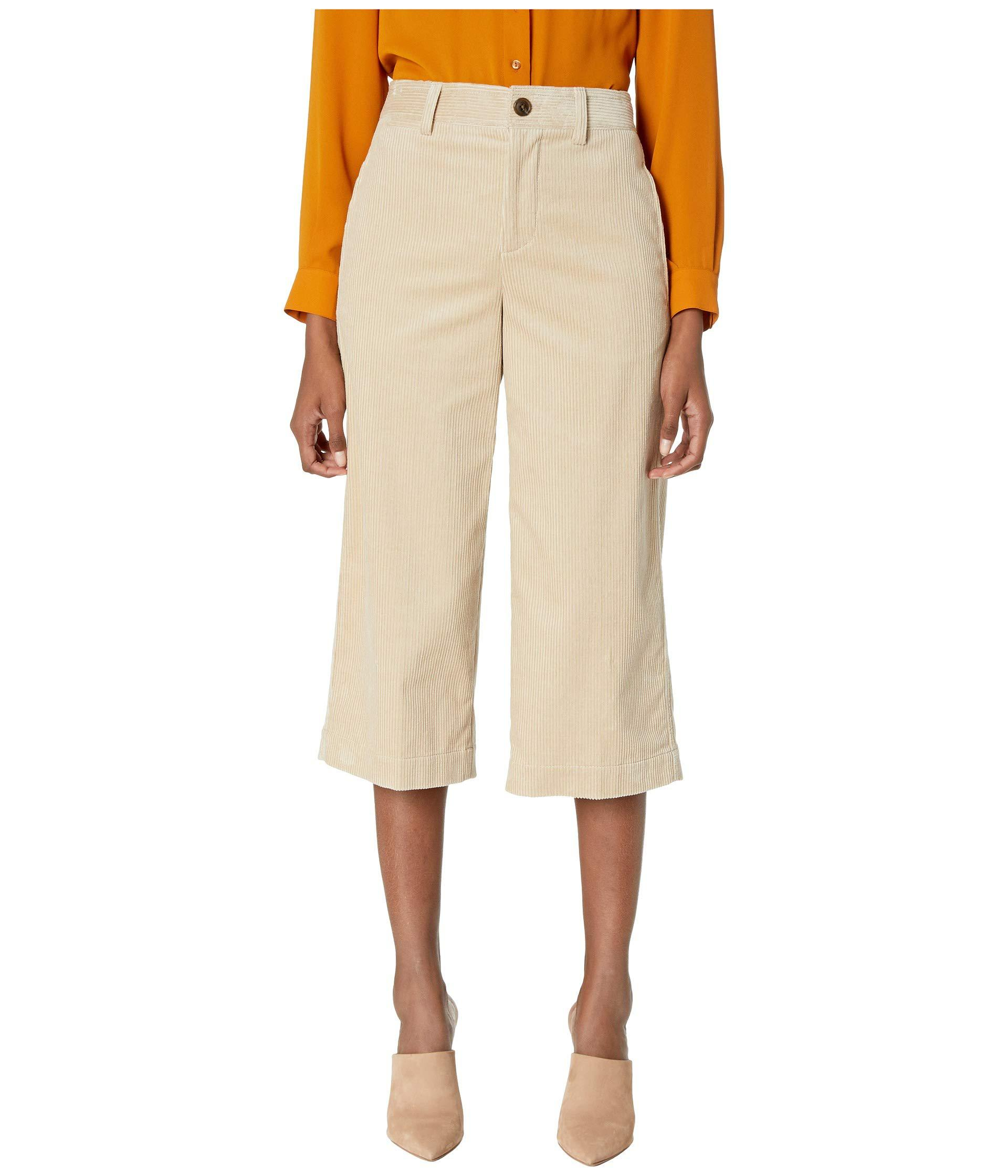 4dc7f843b98 Lyst - Vince Corduroy Crop Wide Pants (stoneware Light Tan) Women s ...