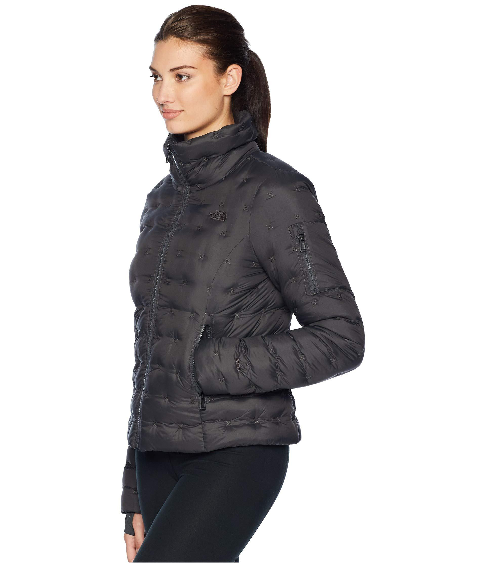04c512aa4d9 Lyst - The North Face Holladown Crop Jacket (tnf White) Women s Coat in Gray