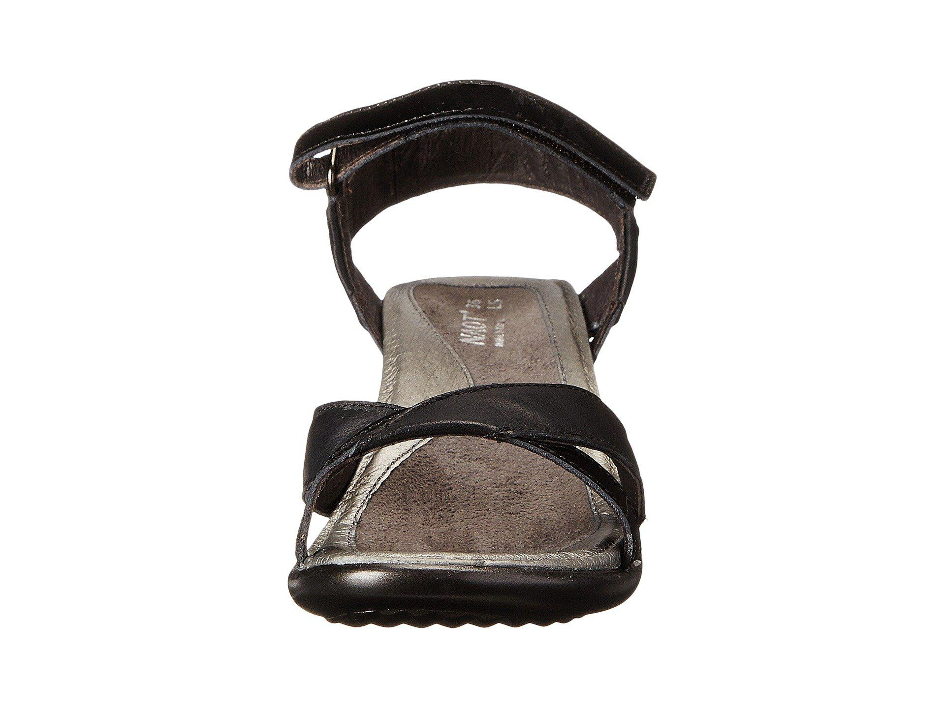 12899ba1f2d9 Naot - Black Cheer (sterling Leather mirror Leather) Women s Dress Sandals  - Lyst. View fullscreen