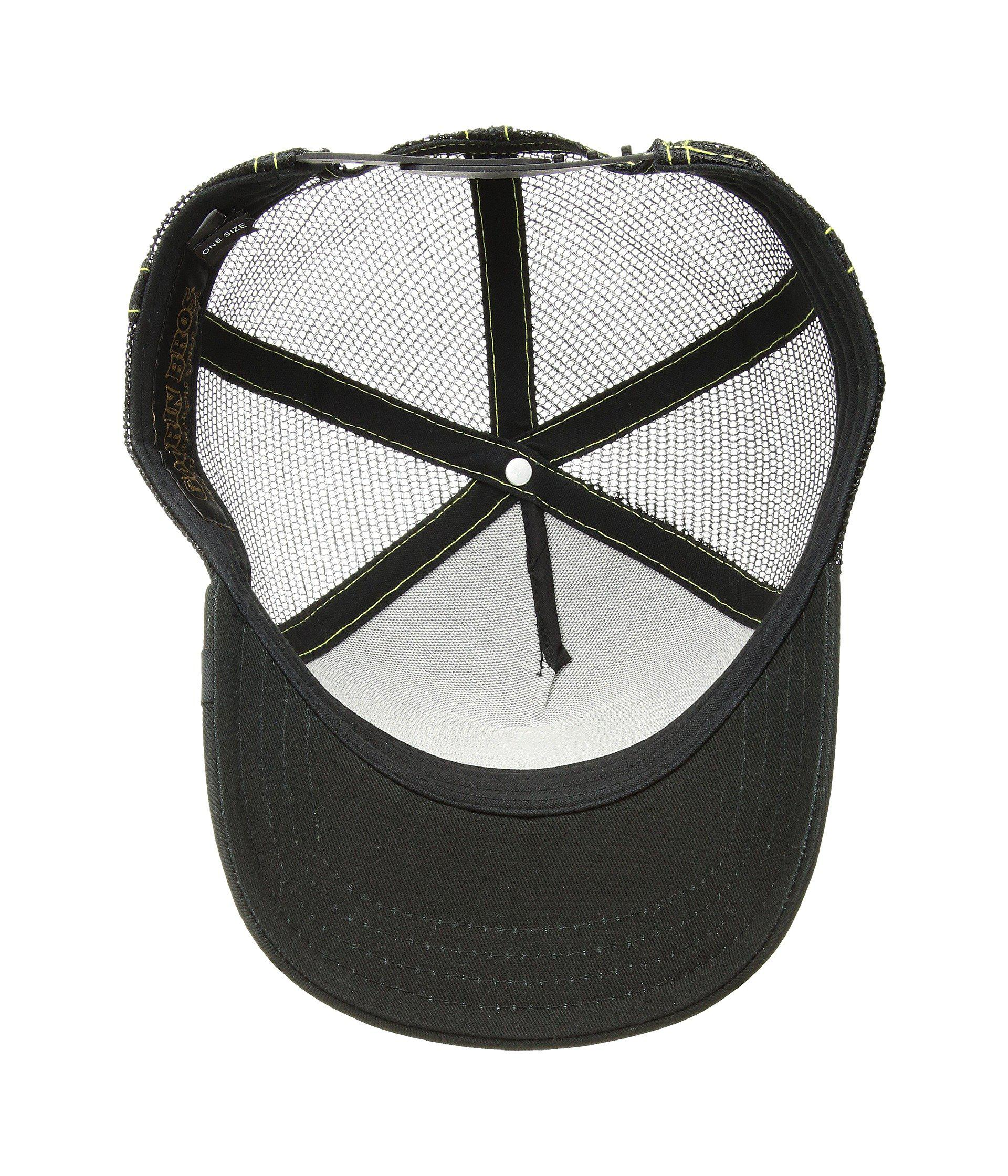 14719323bbc1b Animal Farm Trucker Snapback Hat Cap Black Queen Bee White  Herren-Accessoires New Goorin Bros