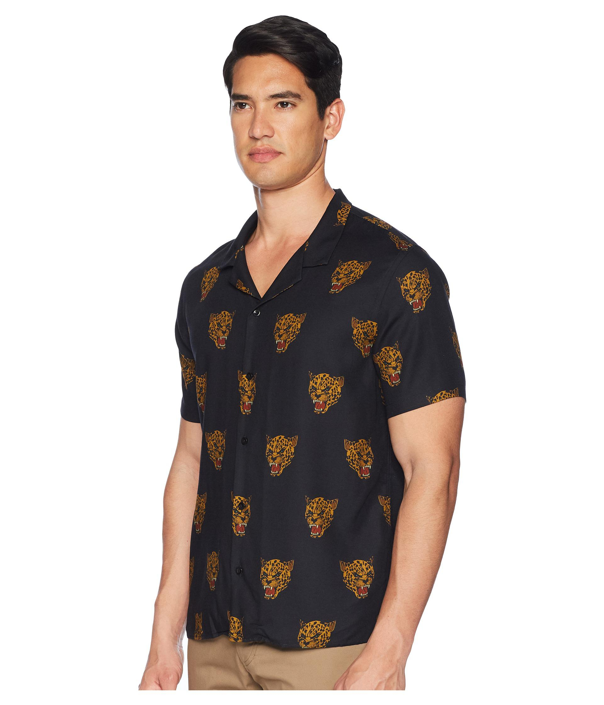 0b3a0059b24f The Kooples Desert Leopard Printed Short Sleeve Shirt in Black for ...