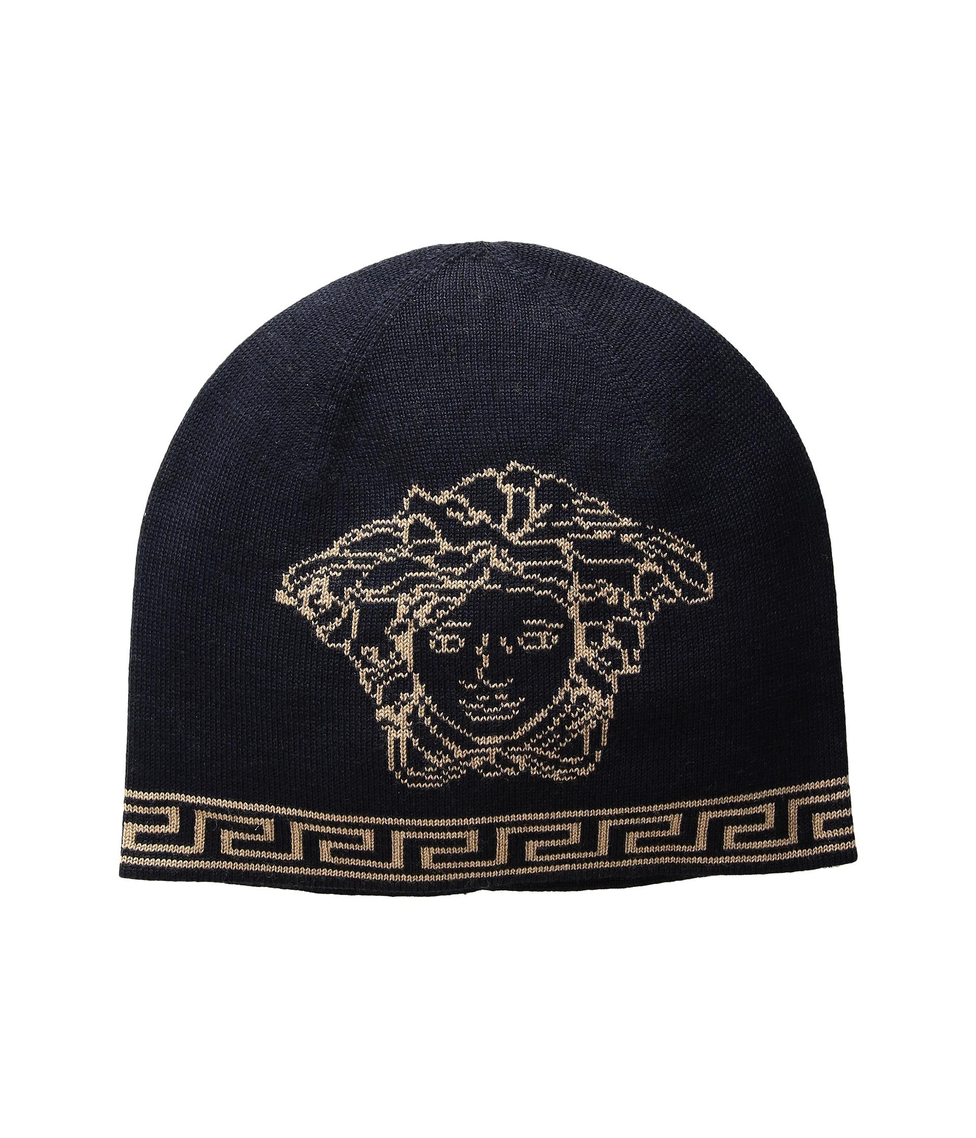 c808d3c7af71 Lyst - Versace Medusa Skull Cap in Blue for Men