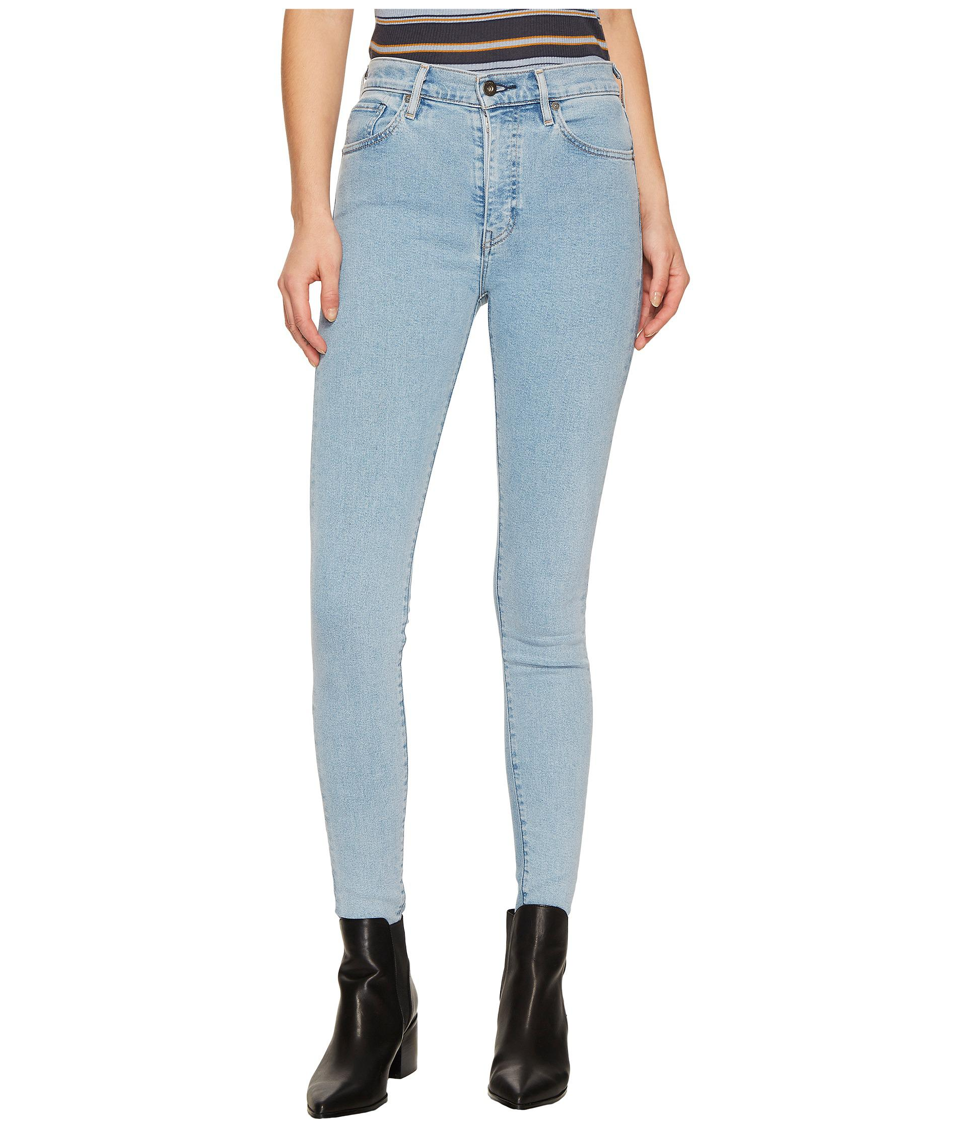 4d32b4ec05 Lyst - Levi s Premium Made   Crafted Sliver High Skinny in Blue