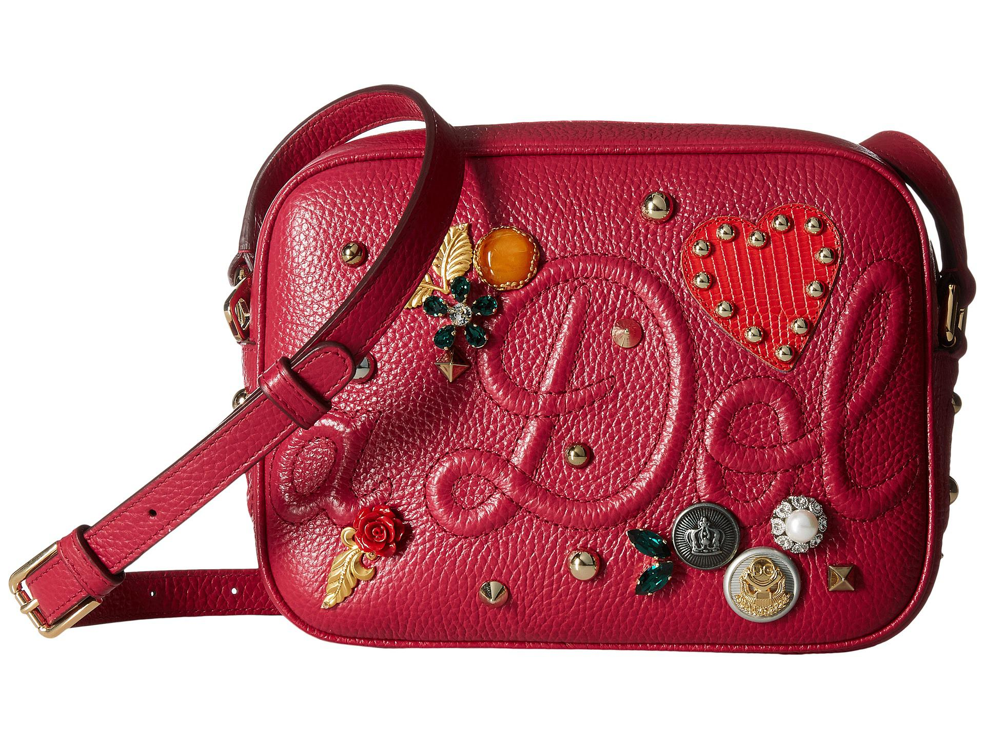 d04a16decf1d Lyst - Dolce   Gabbana Leather Dolce Soft Glamour Bag With ...