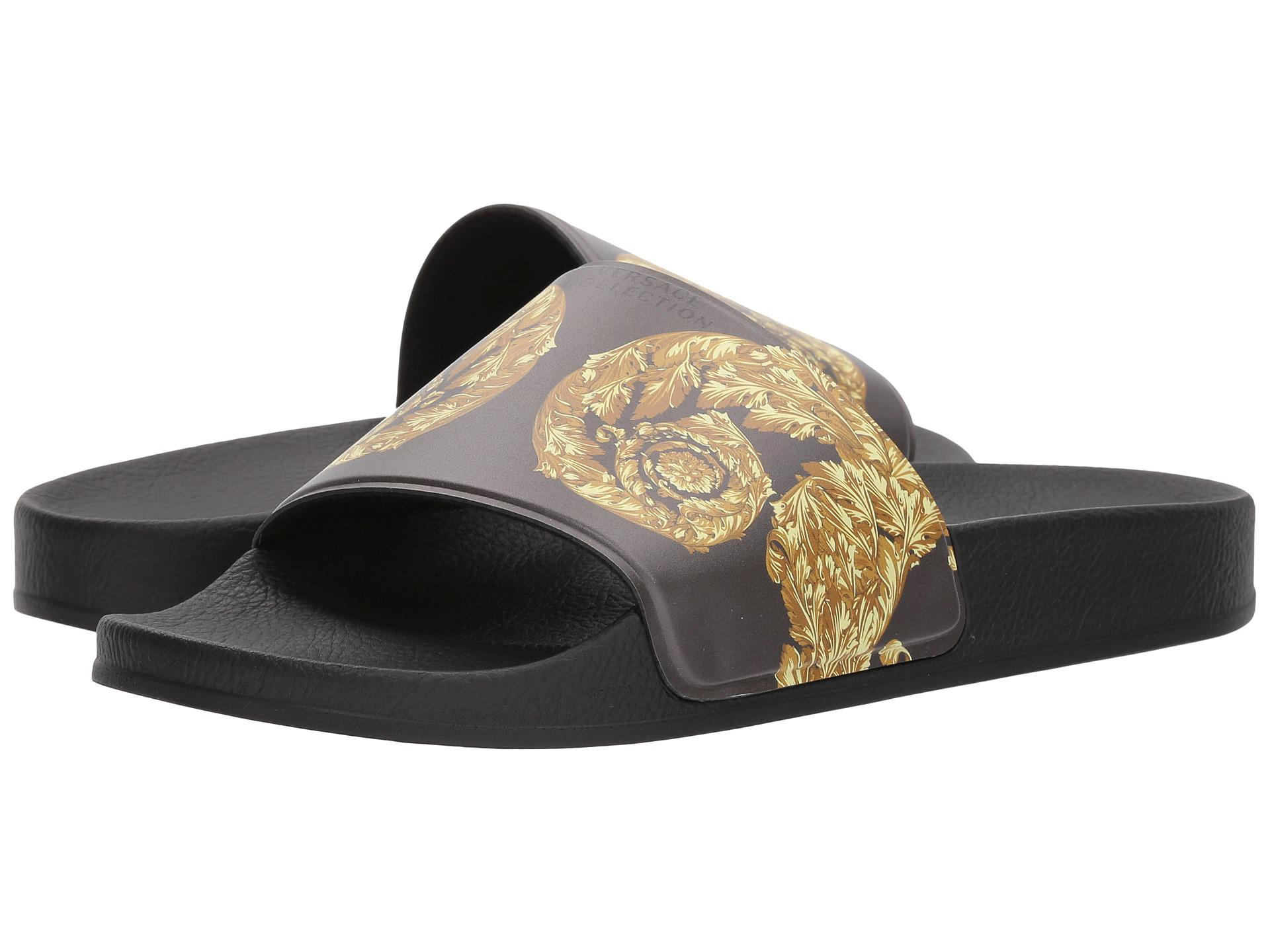 Versace baroque-print slides latest collections cheap price free shipping cheapest price discount shopping online sale pre order sale discounts rexRC
