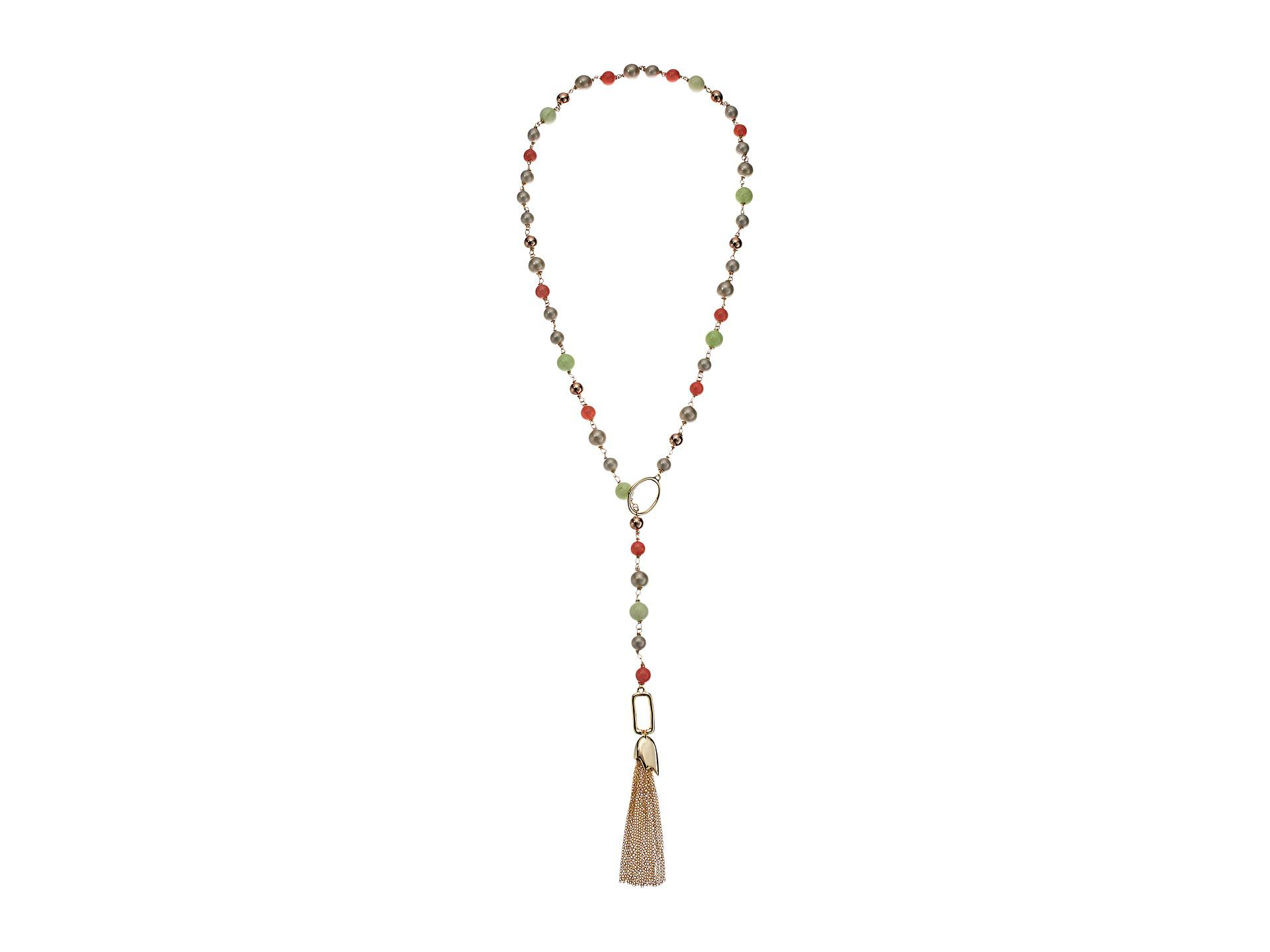 Alexis Bittar Beaded Lariat Tassel Necklace UIdnAQrXIw