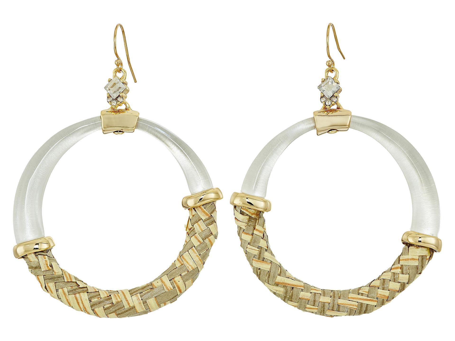 Alexis Bittar Raffia Hoop Wire Earring Silver oJHWWQw7T