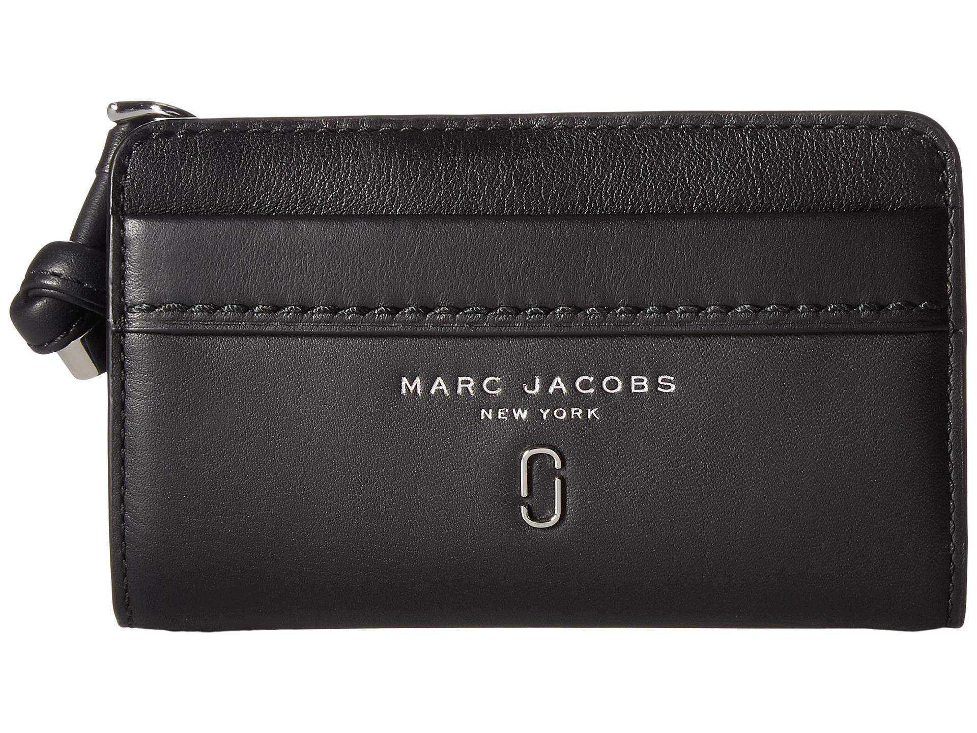 5999695c75 Marc Jacobs Tied Up Compact Wallet in Black - Lyst