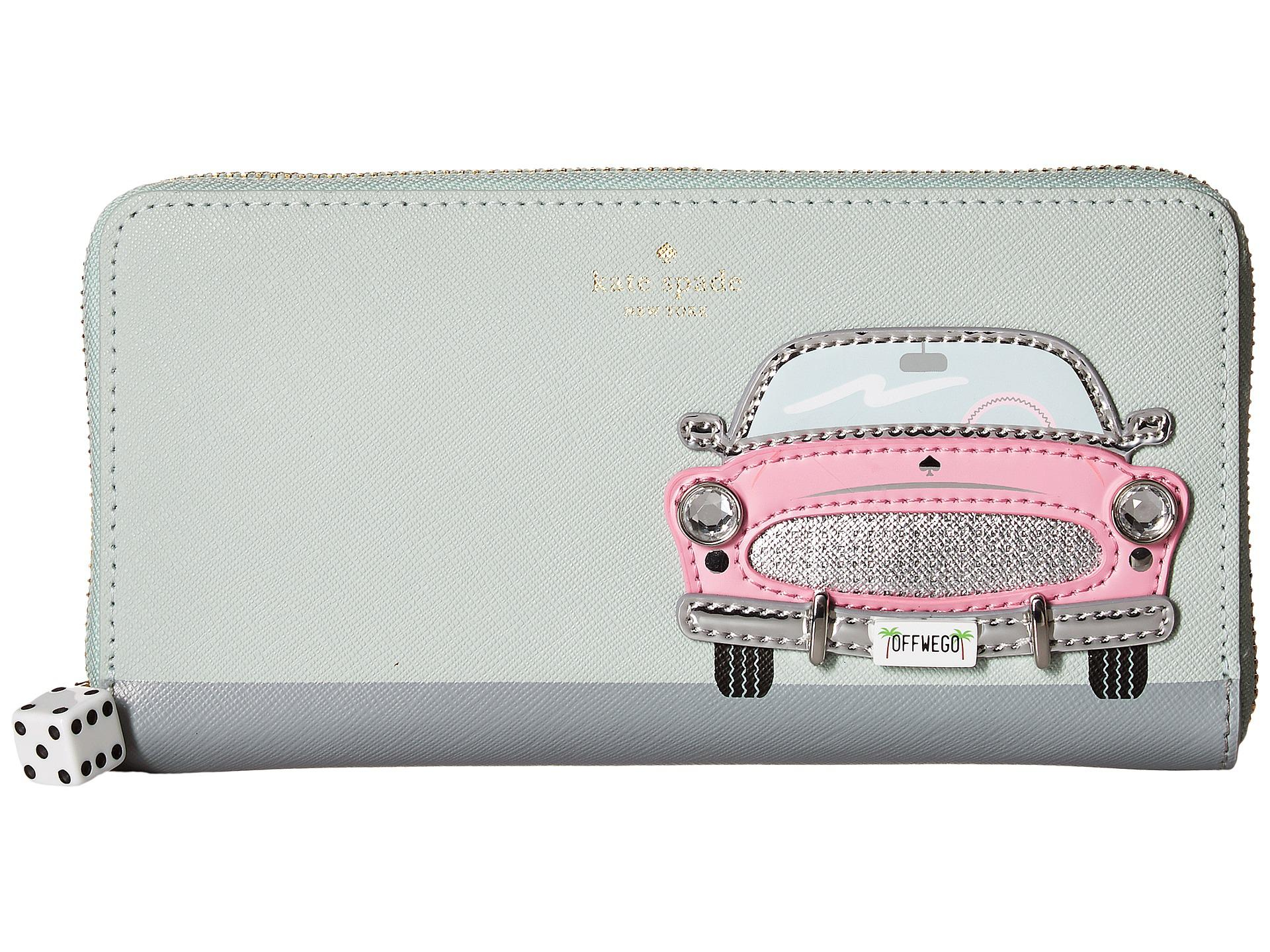 614564c158 Lyst - Kate Spade Checking In Pink Car Applique Lacey