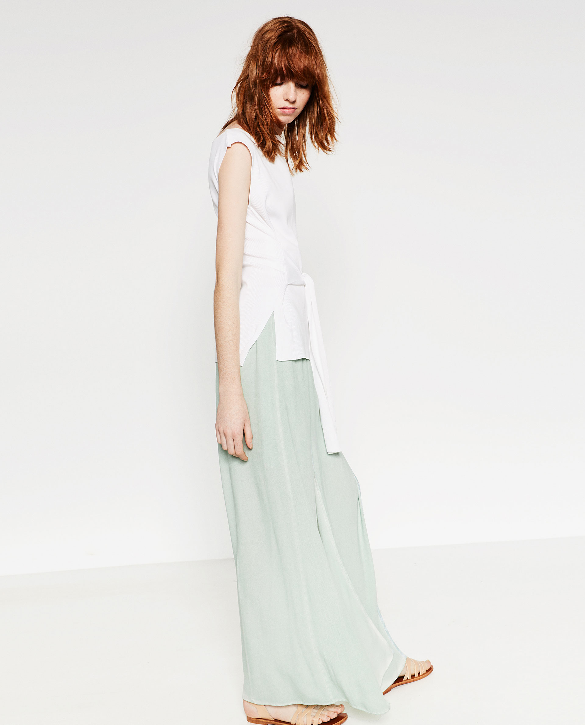 Skirt With Lace Trim 87