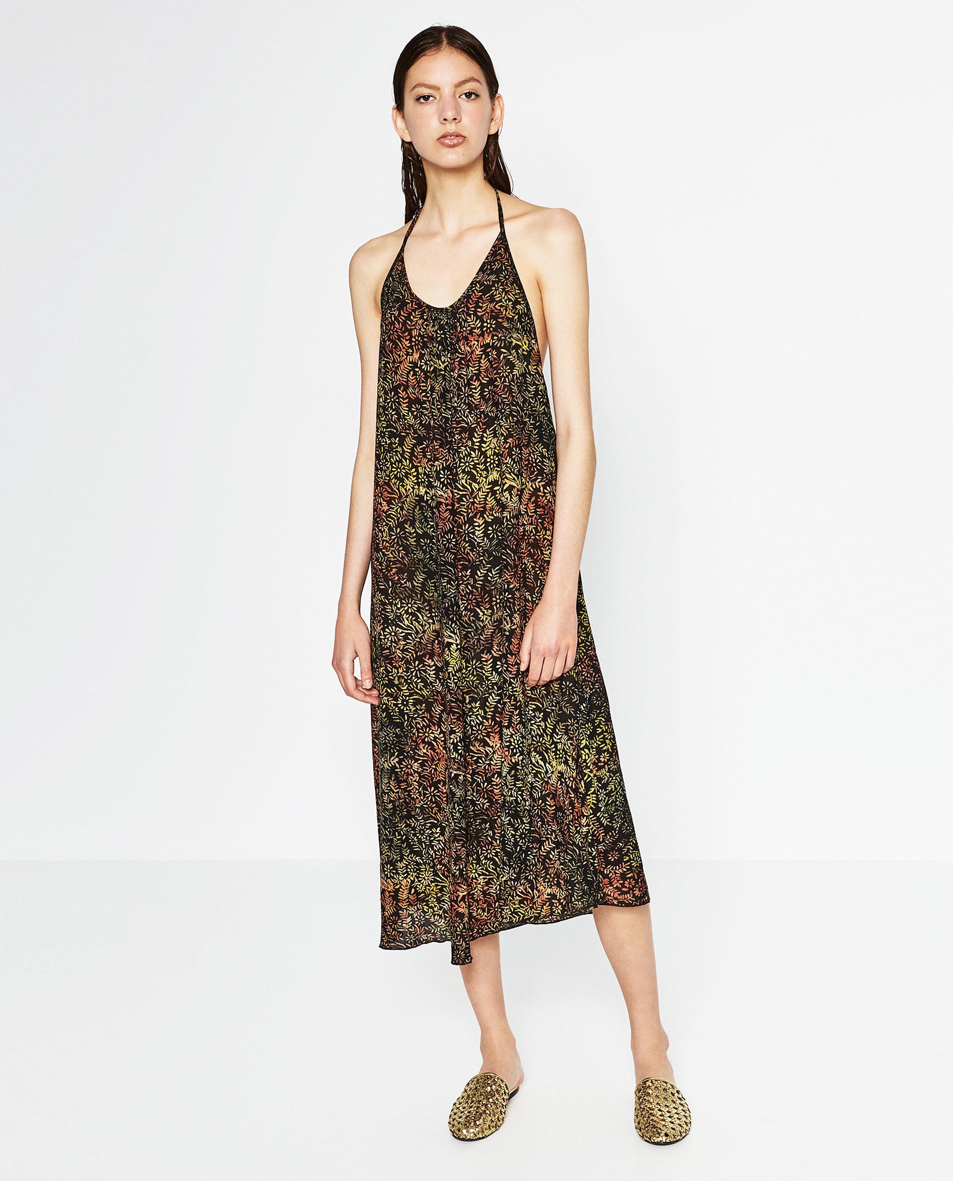 Cut out batik maxi dress