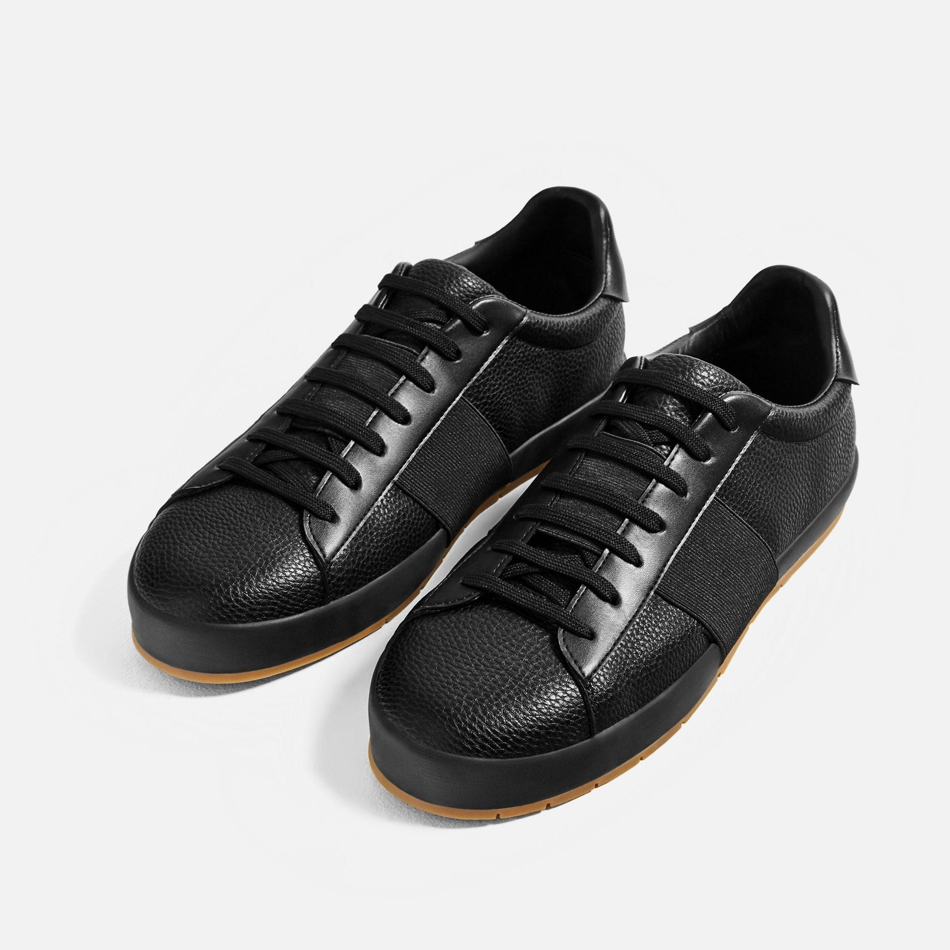 Zara Sneakers With Elastic Band in Black for Men | Lyst