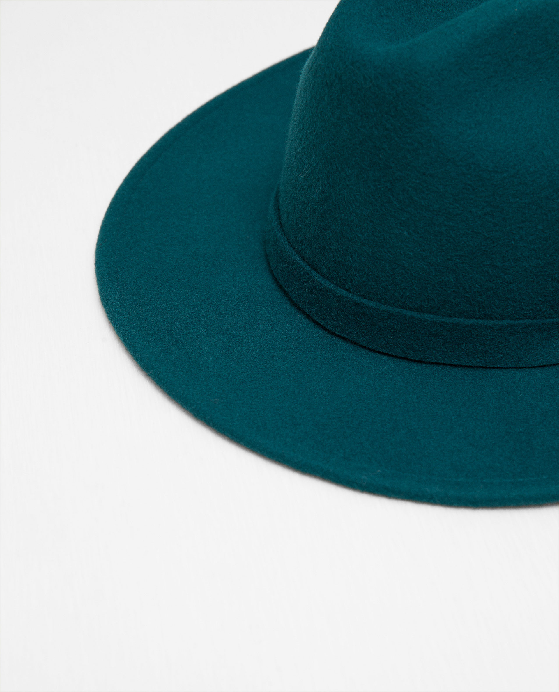 zara brimmed hat with ribbon detail lyst