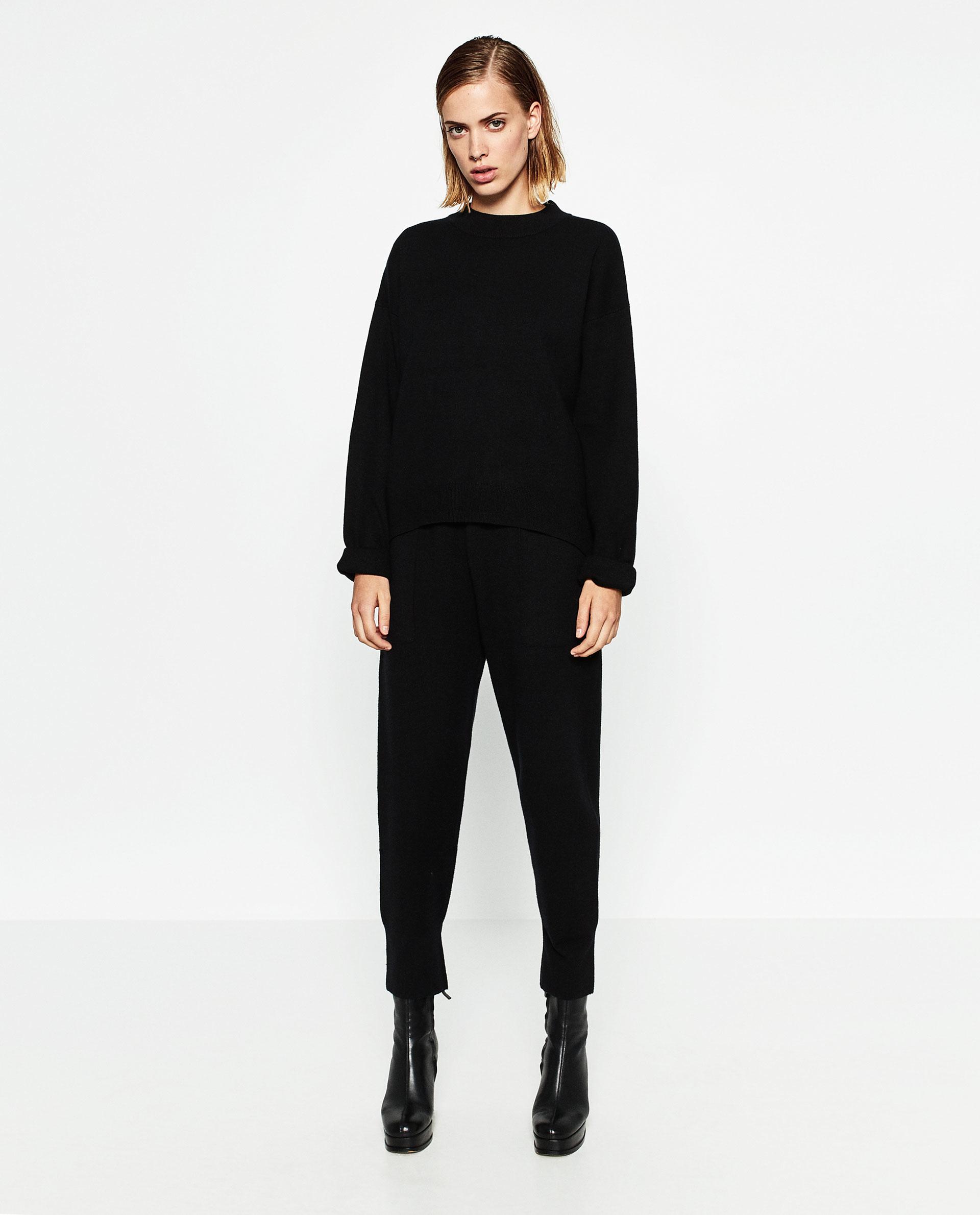 Unique Zara Baggy Trousers In Black  Lyst