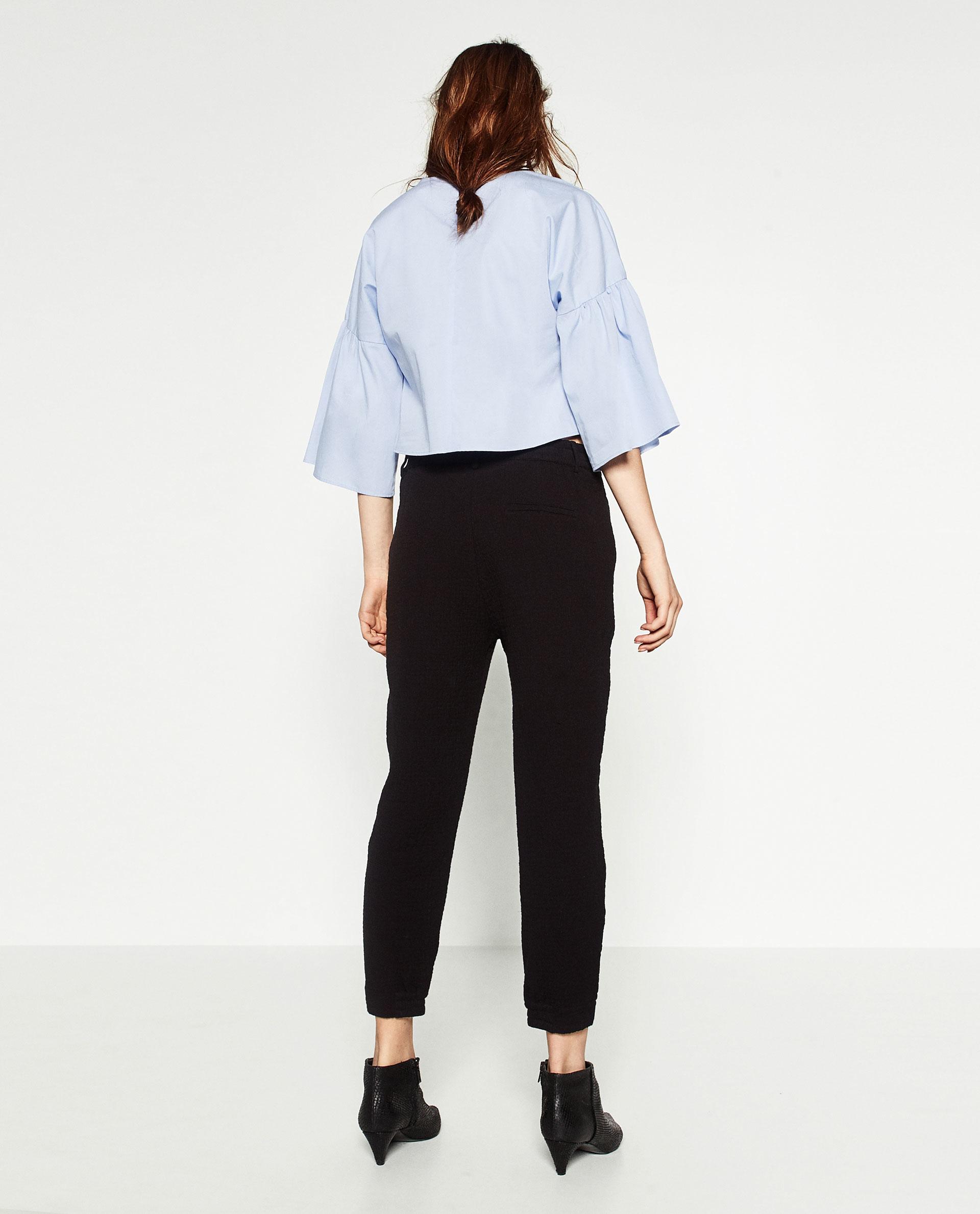 Cool Zara Baggy Jogging Pants In Black  Lyst