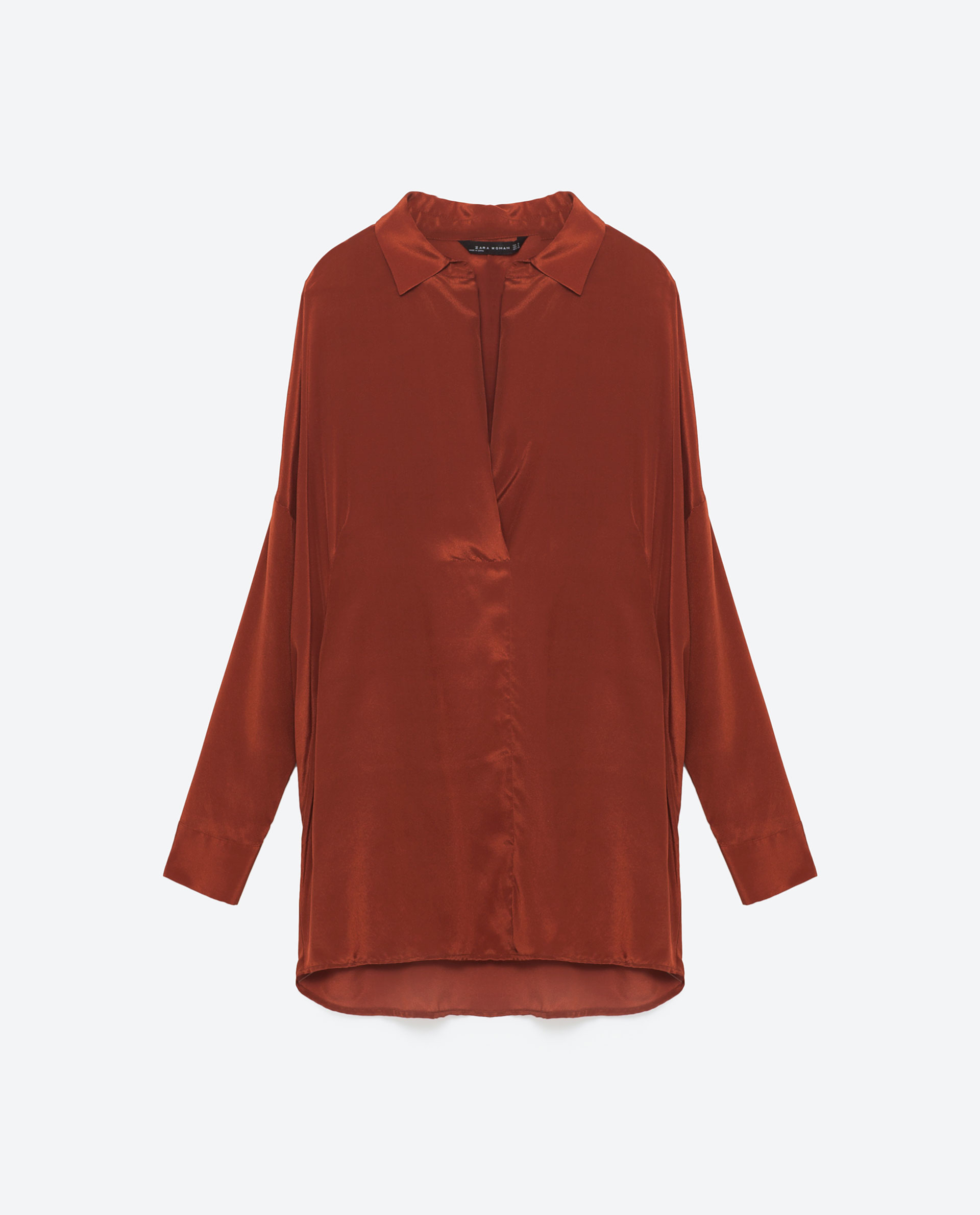 Zara Blue Silk Blouse 25