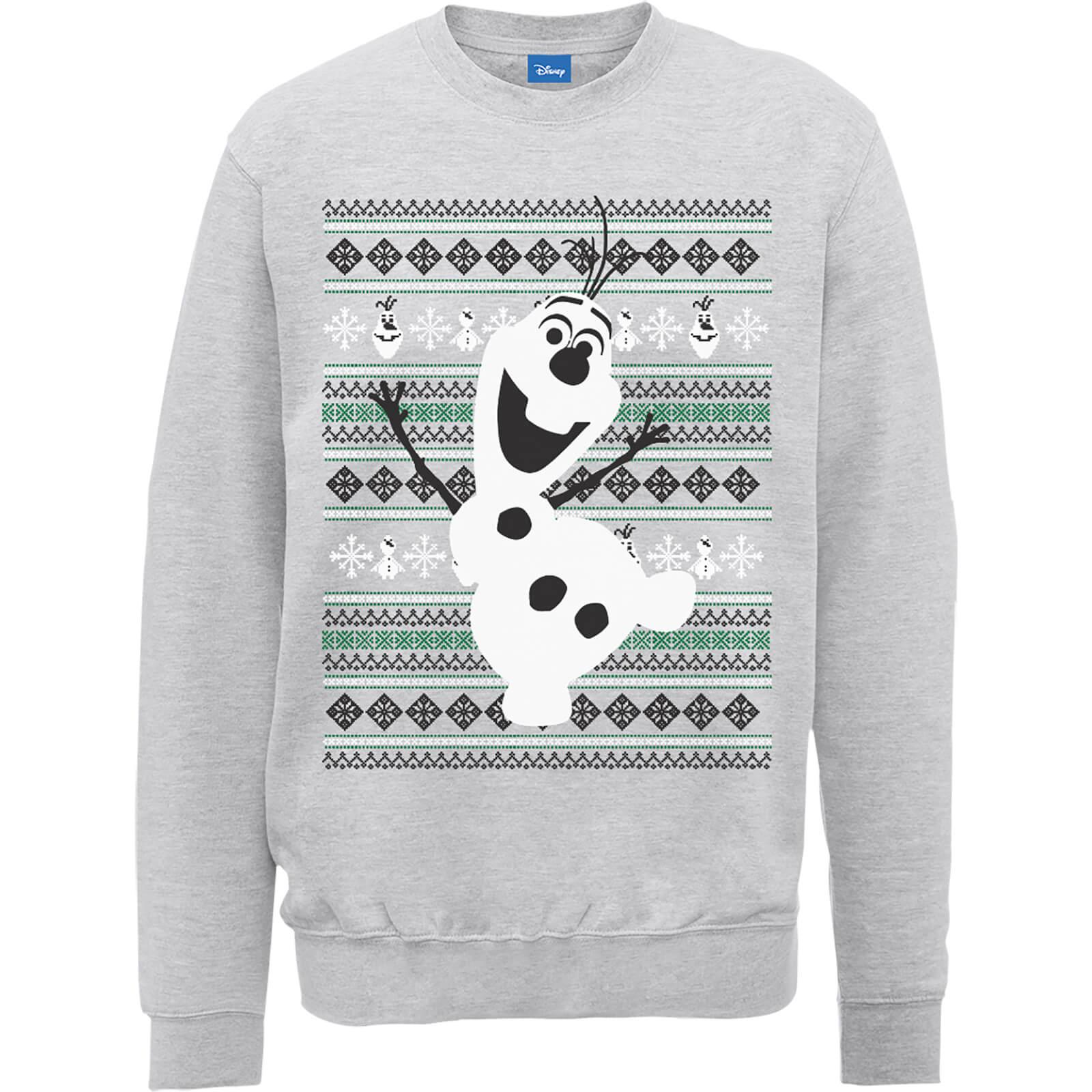 Disney Frozen Christmas Olaf Dancing Grey Christmas Sweatshirt in ...