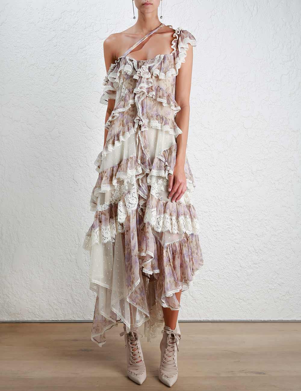 da0bac0a72be Zimmermann Stranded Opus Tier Dress - Lyst