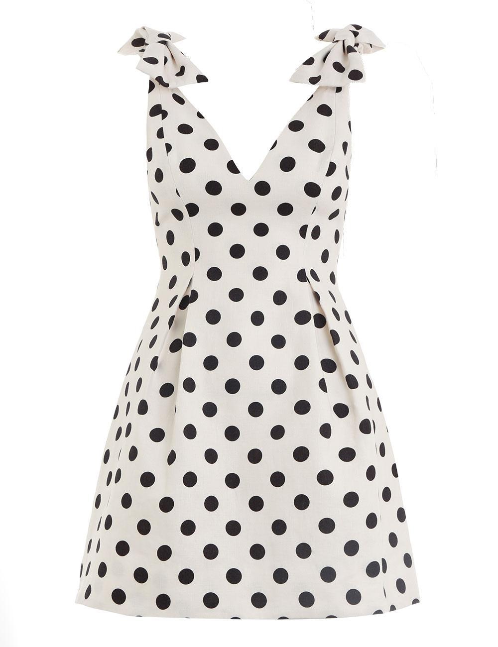943513243d Lyst - Zimmermann Polka Dot Mini Dress in White - Save 1%