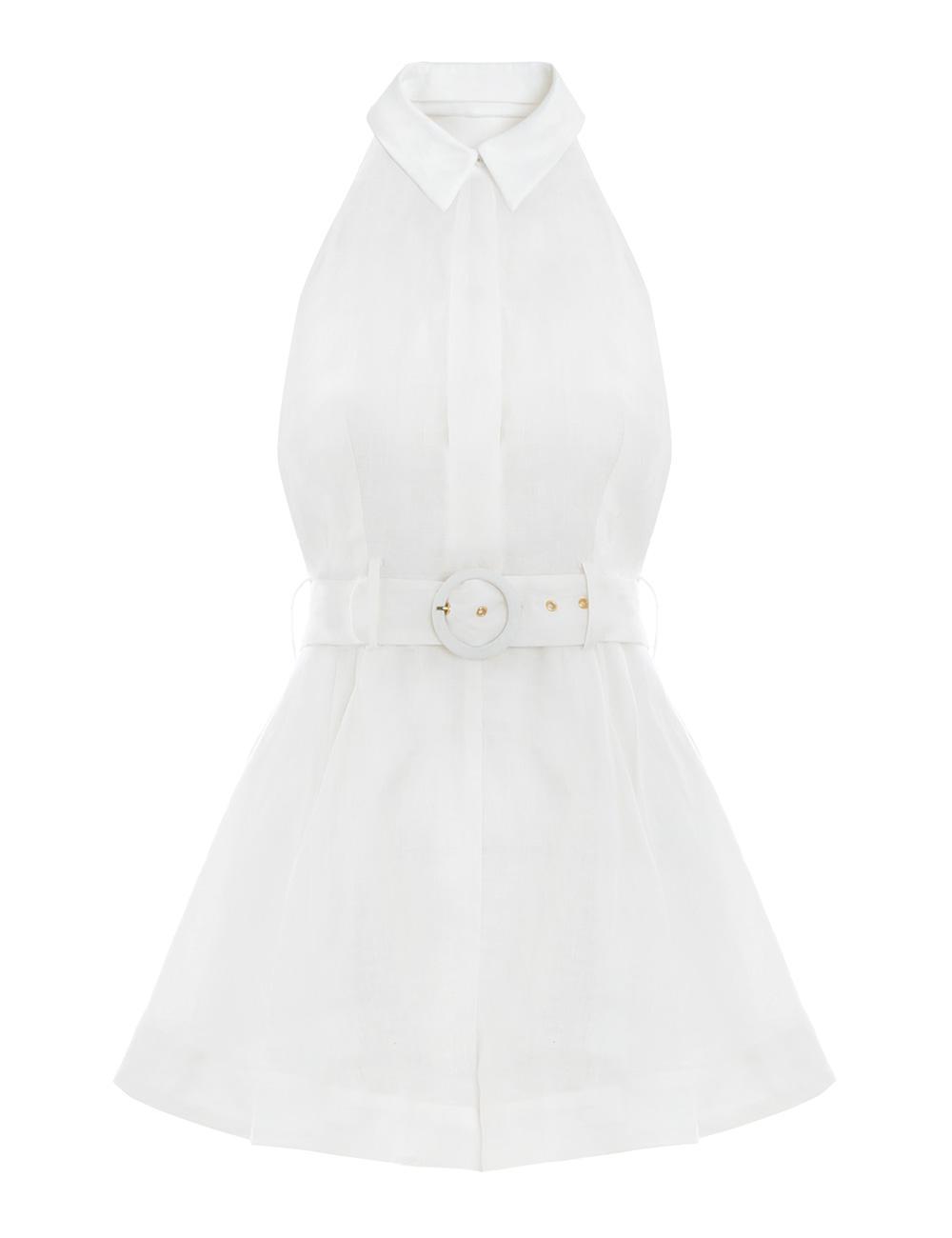 fad182478db Lyst - Zimmermann Primrose Halter Playsuit in White